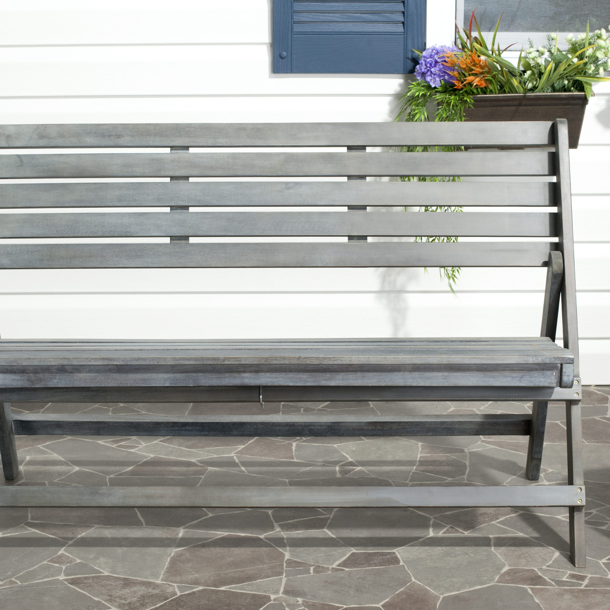 Most Up To Date Mignardise Wooden Garden Bench With Cavin Garden Benches (View 12 of 30)