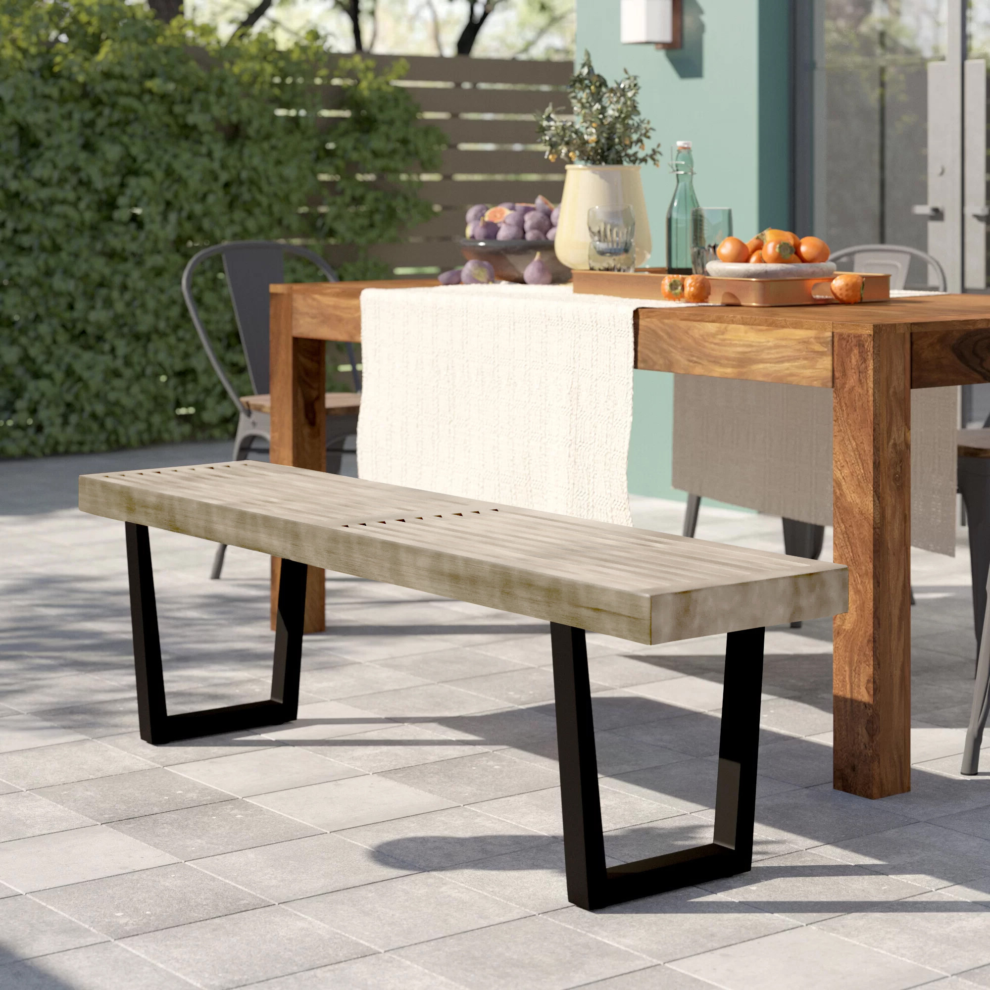Most Up To Date Ossu Iron Picnic Benches With Regard To Yager Wooden Picnic Bench (View 9 of 30)