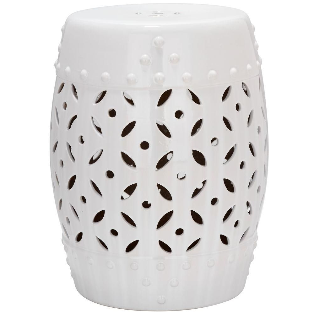 Most Up To Date Safavieh Lattice Coin White Ceramic Garden Stool Acs4510a Intended For Holbrook Ceramic Garden Stools (View 11 of 30)