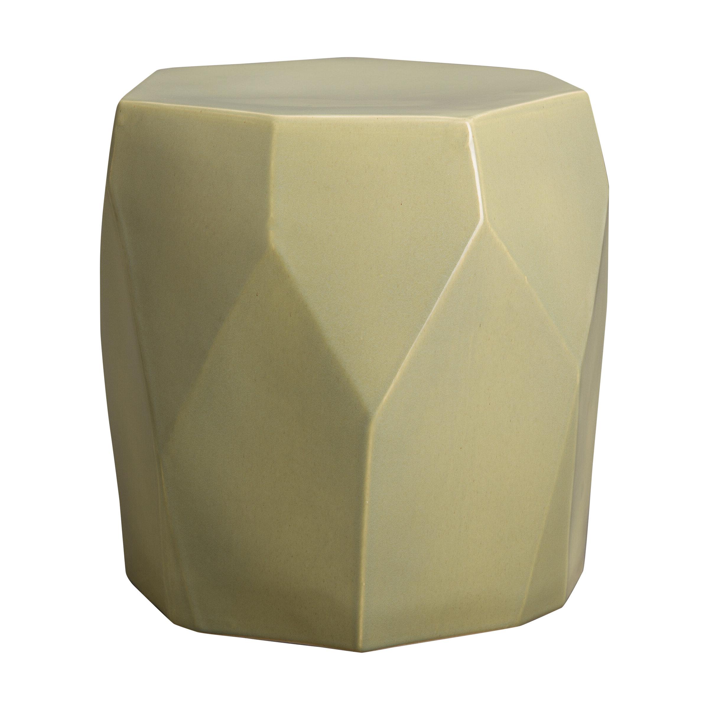 Nadelman Facet Garden Stool For Fashionable Jadiel Ceramic Garden Stools (View 14 of 30)