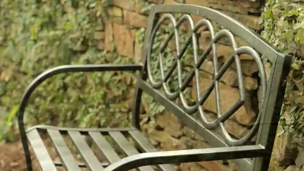 Newest Celtic Knot Iron Garden Benches Inside Celtic Knot Garden Bench Sku# 38671 – Plow & Hearth (View 9 of 30)