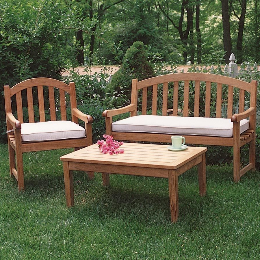 Newest Coleen Outdoor Teak Garden Benches With Teak Outdoor Chairs – Carlisle Bench Armchair (View 8 of 30)