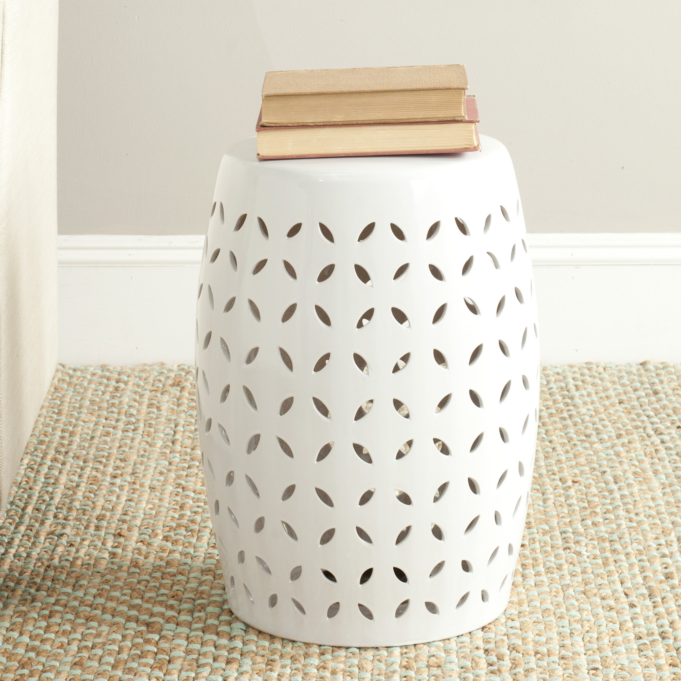 Newest Feliciana Ceramic Garden Stool Intended For Amettes Garden Stools (View 10 of 30)
