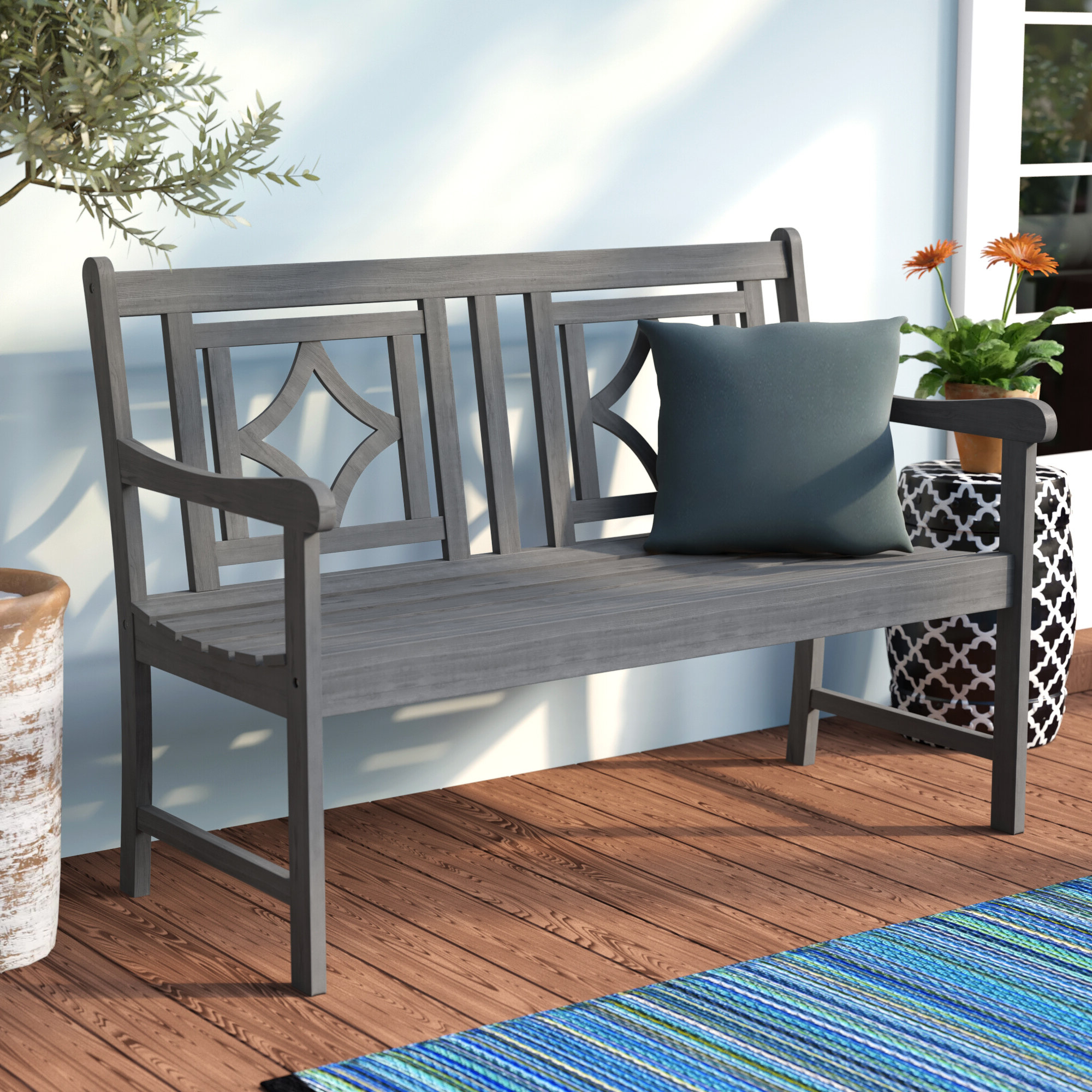 Featured Photo of Shelbie Wooden Garden Benches