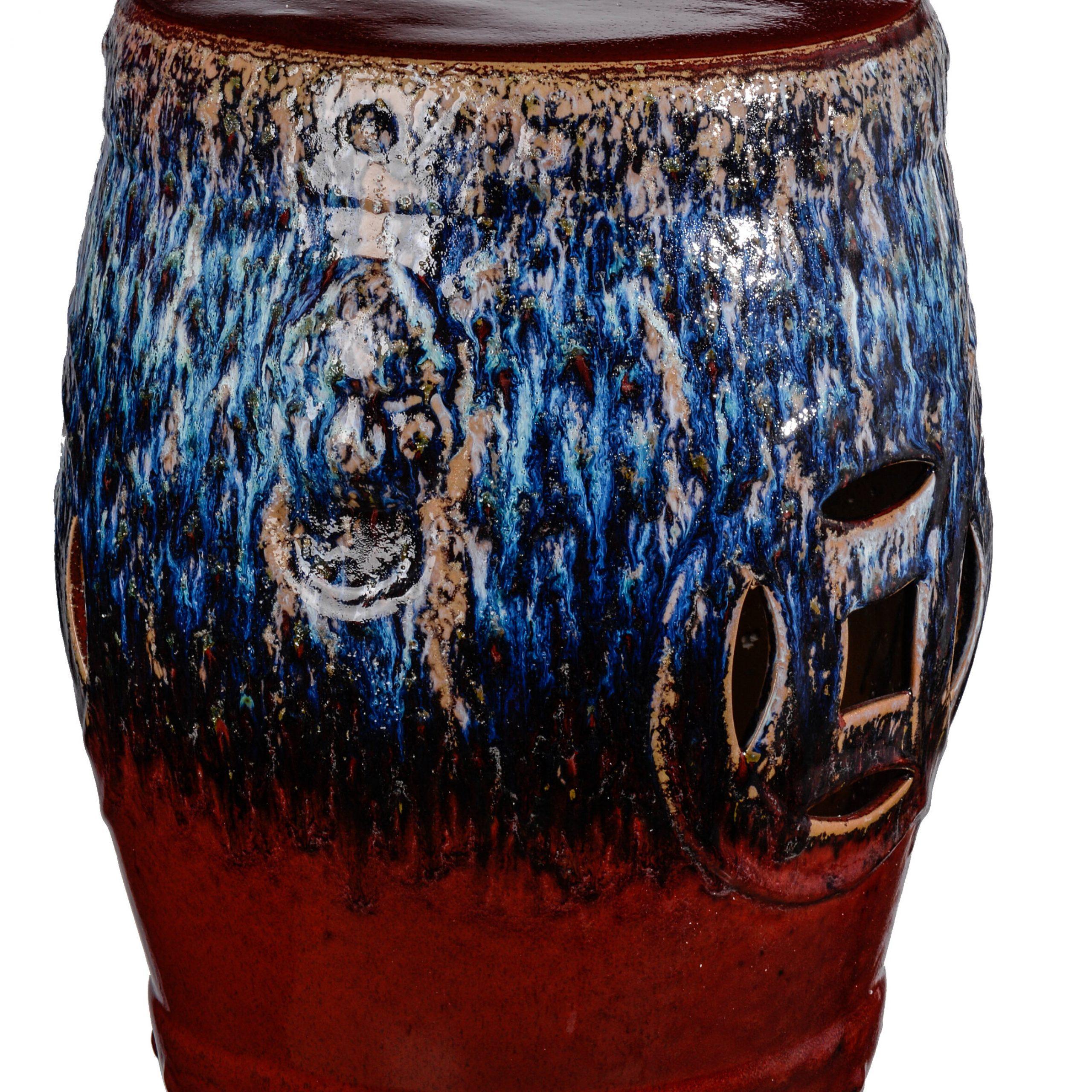 Newest Wilde Poppies Ceramic Garden Stools For Cates Ceramic Garden Stool (View 8 of 30)