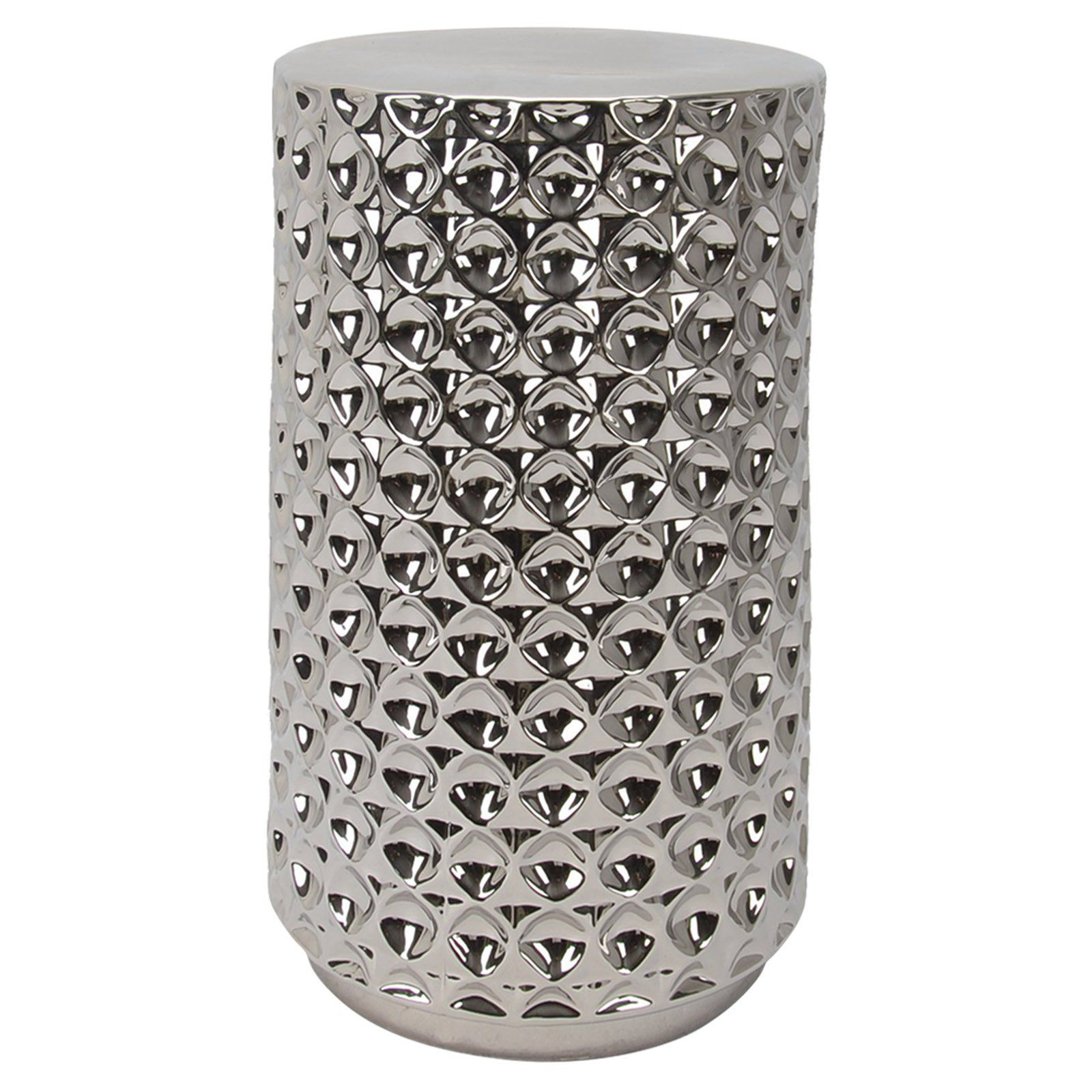 Newest Winterview Garden Stools Intended For Outdoor Harp & Finial Athens Round Garden Stool Chrome (View 15 of 30)