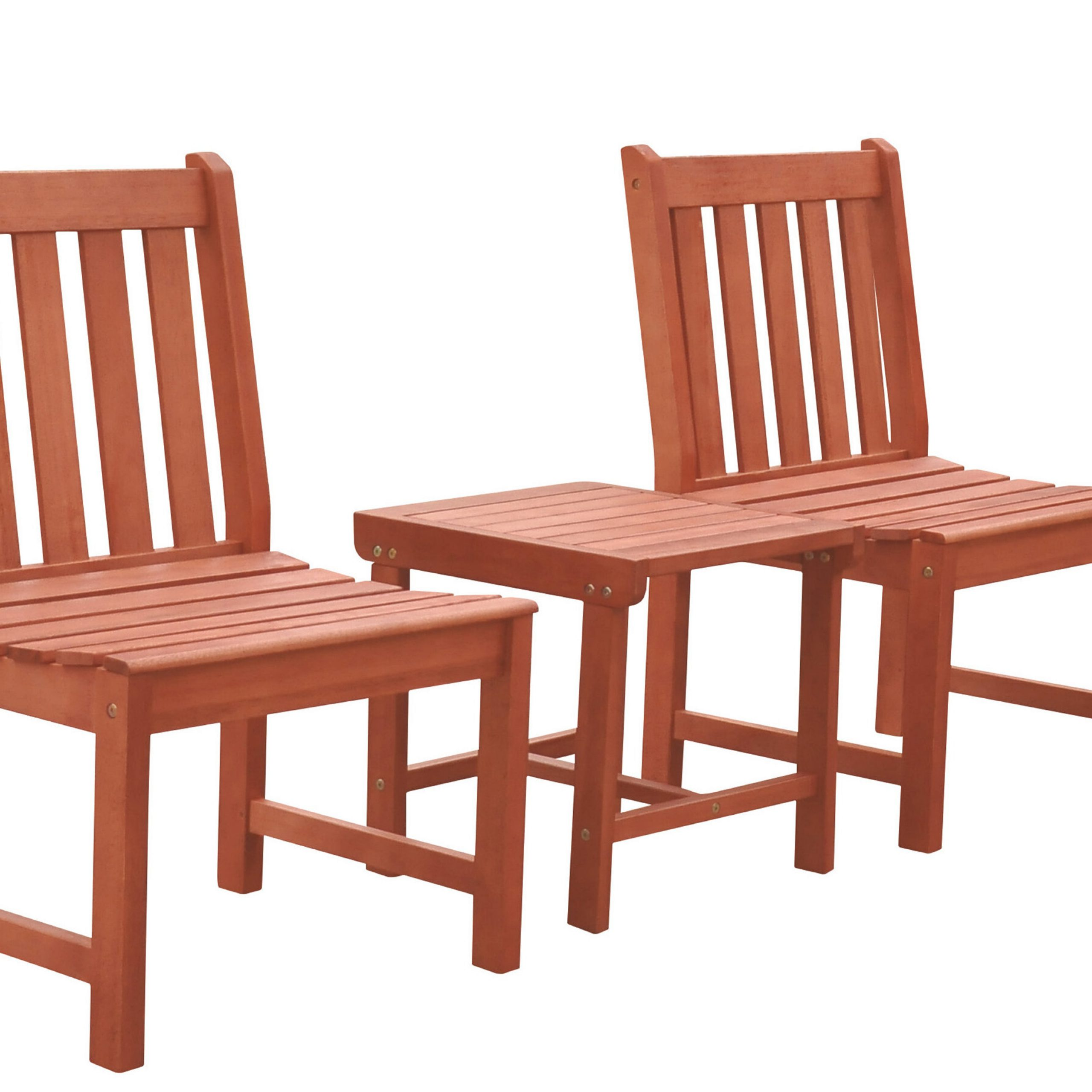 Nick 3 Piece Bistro Set With Regard To Most Current Amabel Patio Diamond Wooden Garden Benches (View 25 of 30)