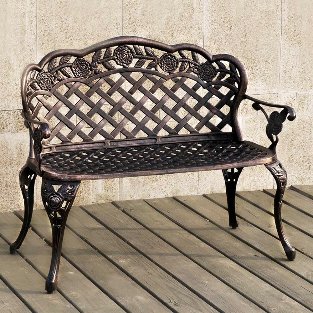 Norrie Metal Garden Benches Intended For Popular Kamath Aluminum Garden Bench (View 12 of 30)