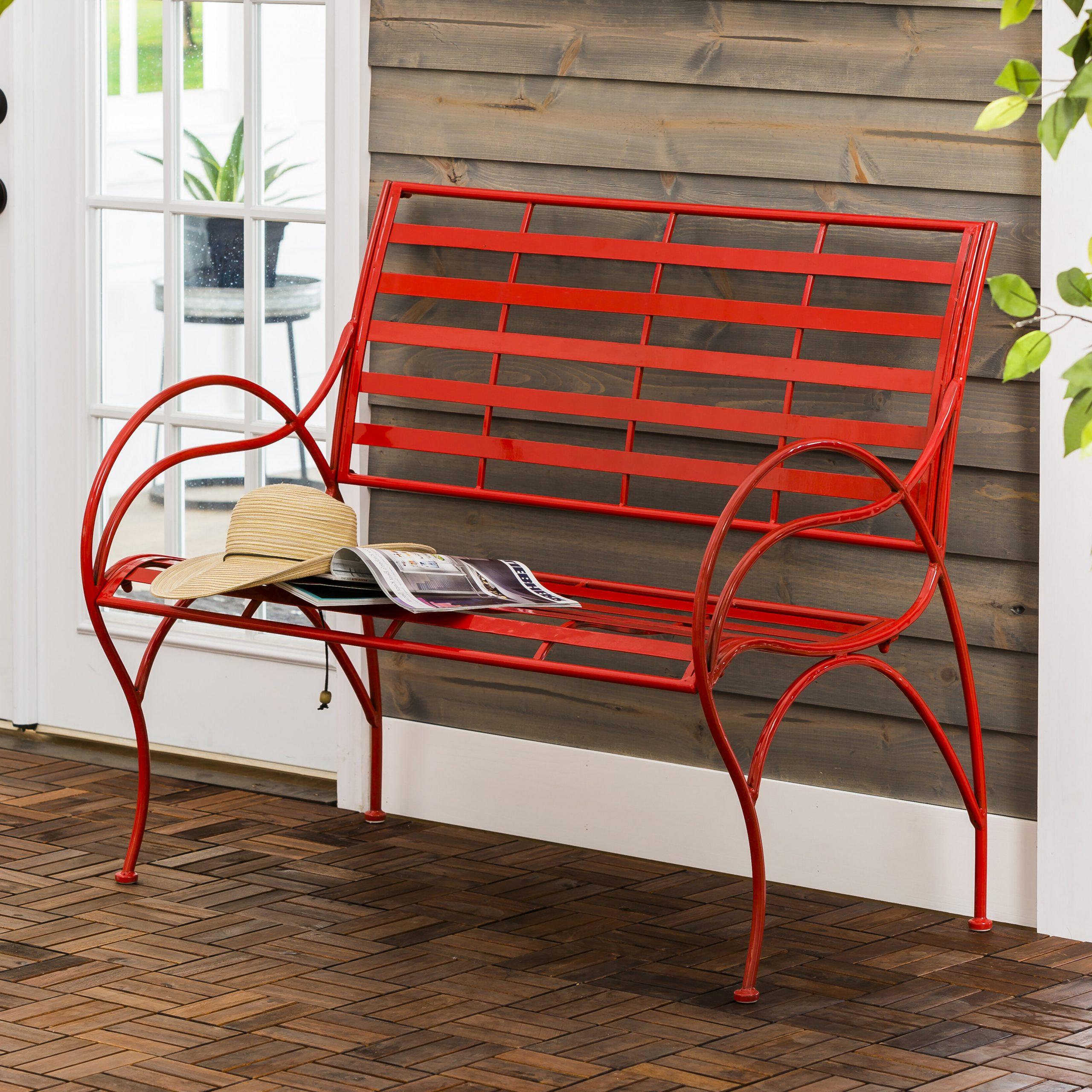 Norrie Metal Garden Benches Pertaining To Most Recent Carnegie Swirl Iron Garden Bench (View 3 of 30)
