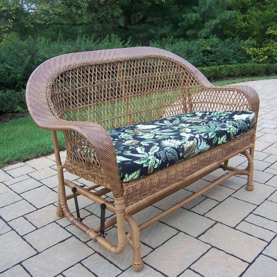 Oakland Livingresin Wicker Coventry Glider Loveseat Oakland With Most Popular Sibbi Glider Benches (View 15 of 30)