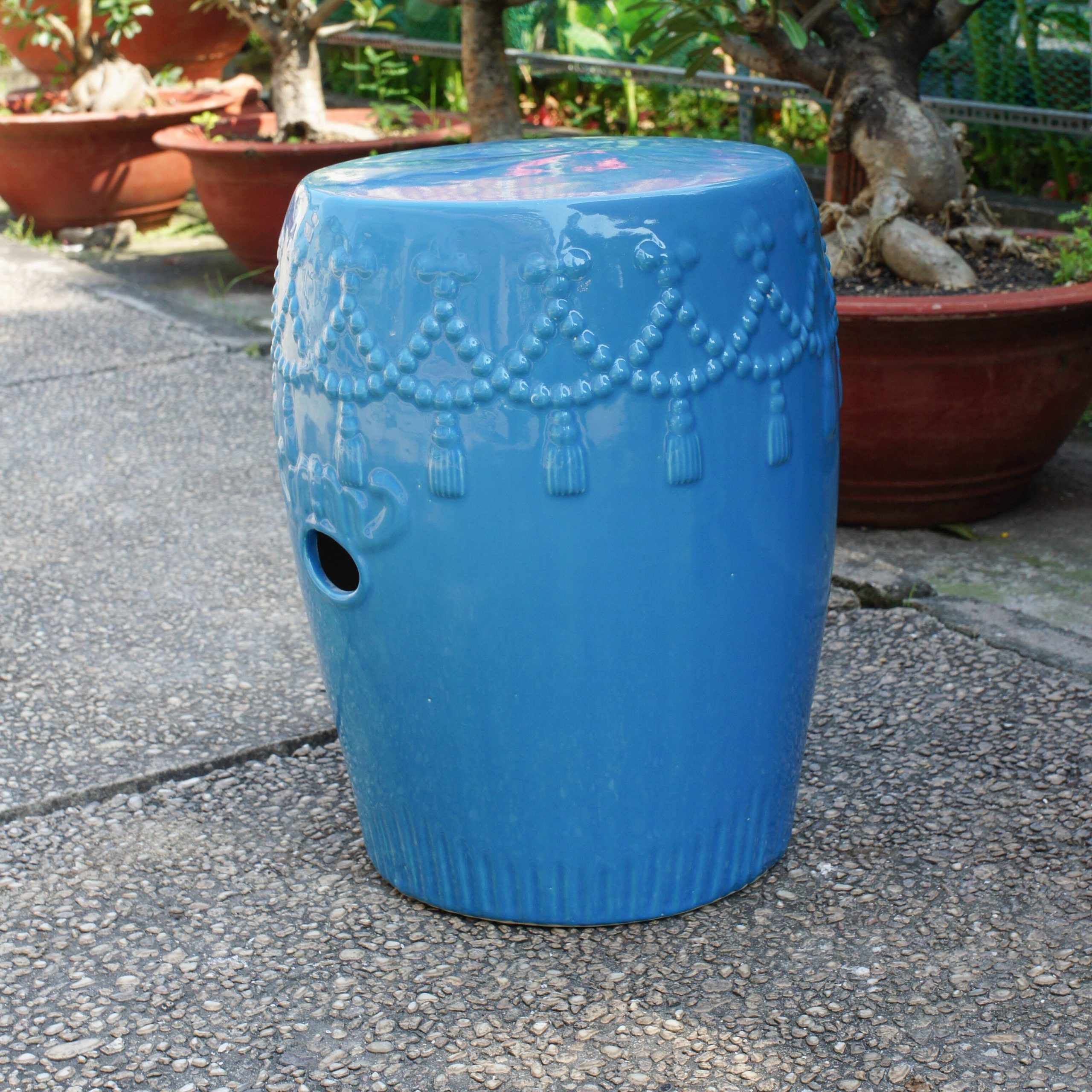 Oakside Ceramic Garden Stools Within Well Known Alonsa Drum Ceramic Garden Stool (View 3 of 30)