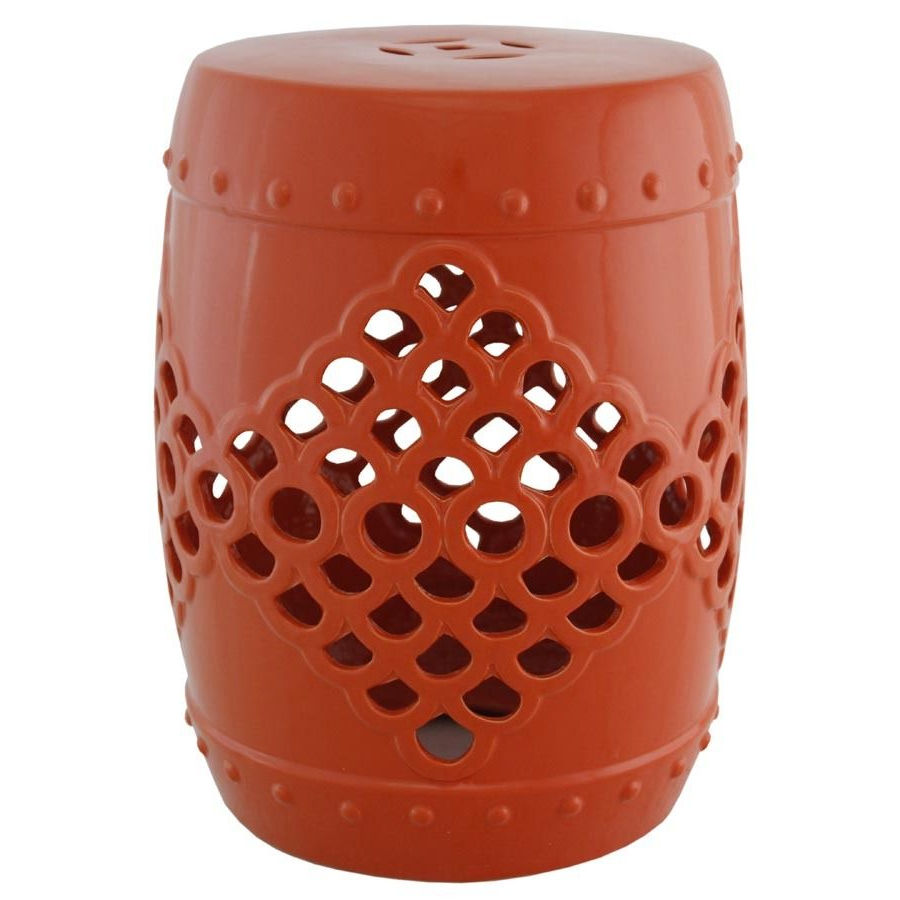 Orange Ceramic Garden Stool (View 4 of 30)