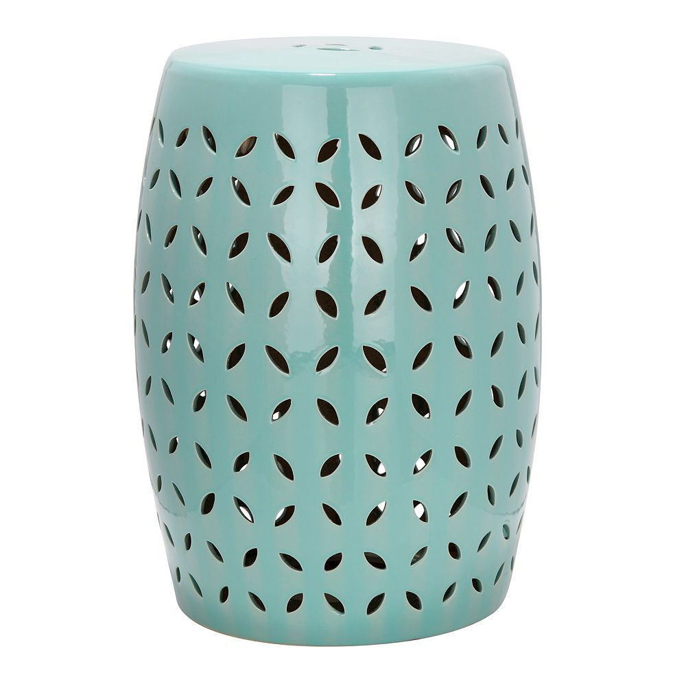 Outdoor Safavieh Lattice Petal Ceramic Garden Stool, Blue Inside Famous Renee Porcelain Garden Stools (View 3 of 30)