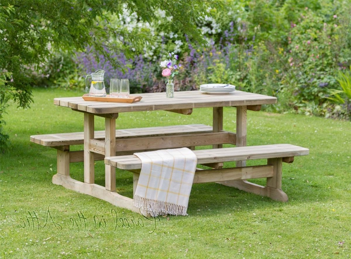 Pauls Steel Garden Benches Inside Fashionable Pin On Garden Furniture Picnic Table (View 10 of 30)