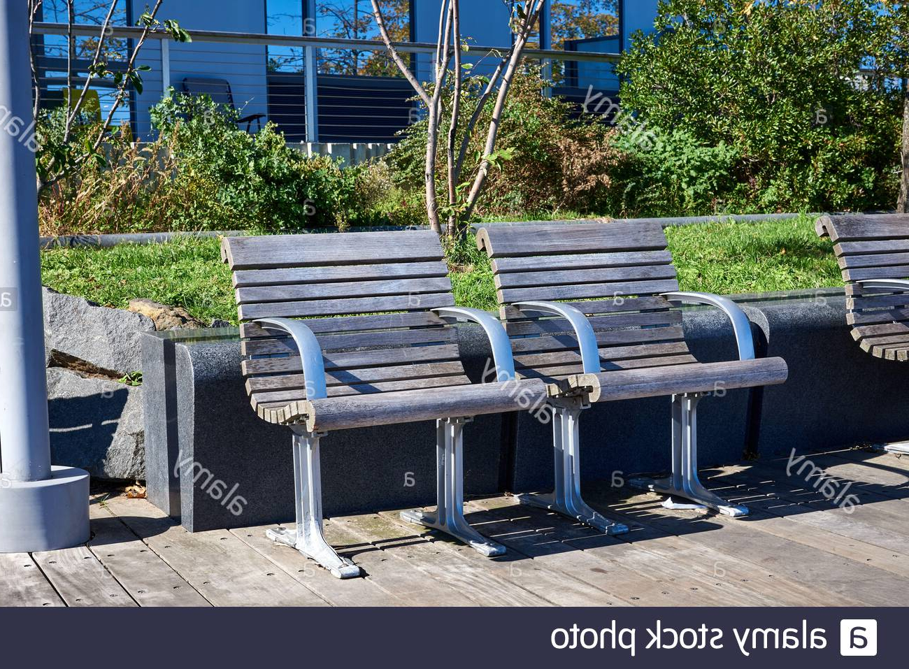 Pauls Steel Garden Benches Pertaining To Most Popular Metal Seats Seating High Resolution Stock Photography And (View 12 of 30)