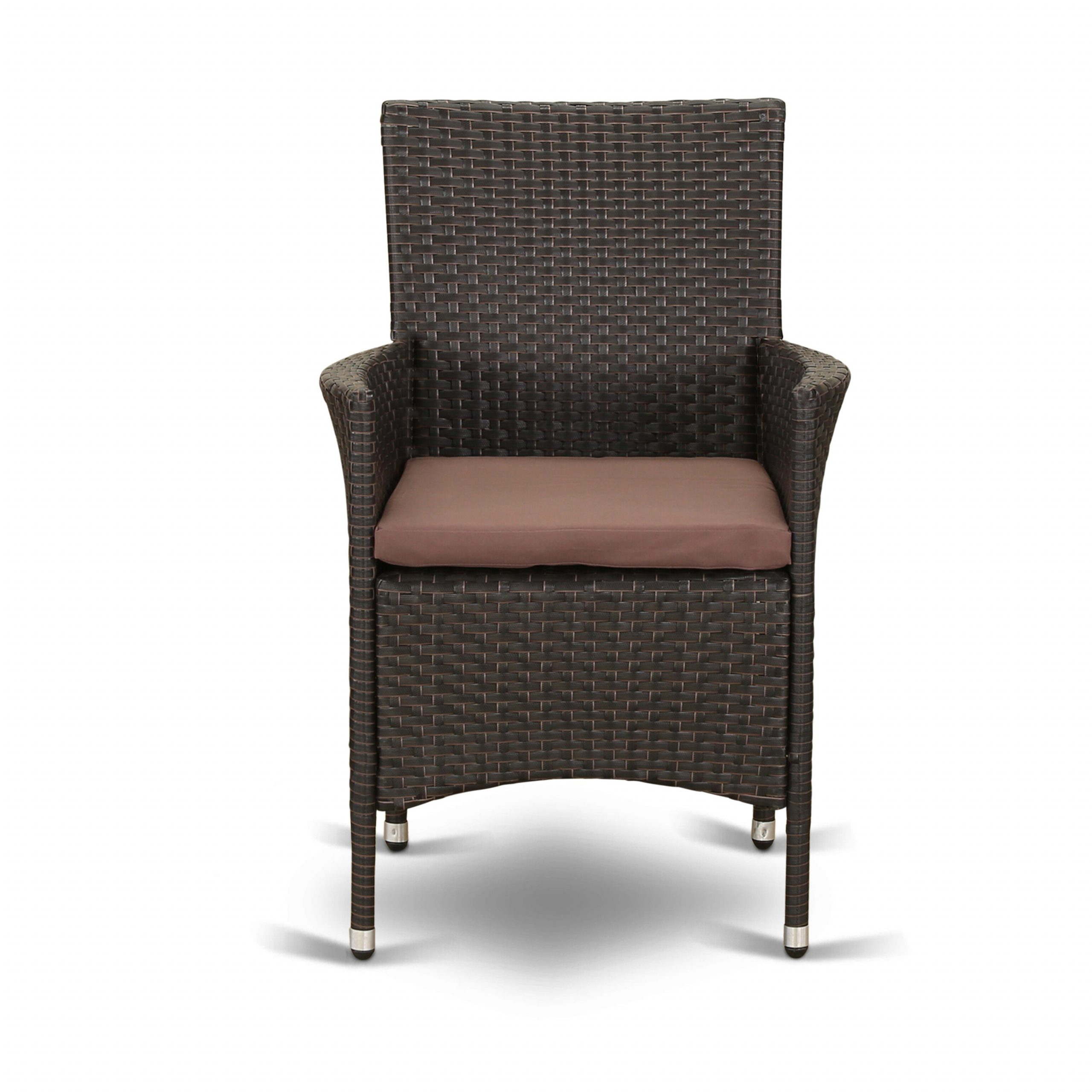 Pauly Patio Dining Armchair With Cushion Pertaining To Most Up To Date Lublin Wicker Tete A Tete Benches (View 29 of 30)