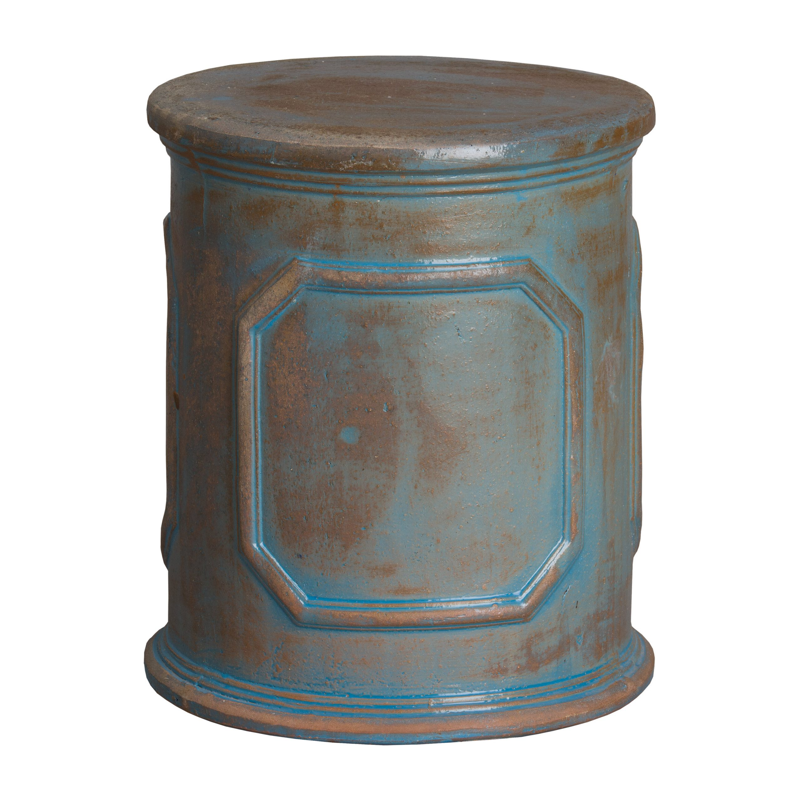 Penwortham Ceramic Garden Stool Inside Most Popular Engelhardt Ceramic Garden Stools (View 10 of 30)
