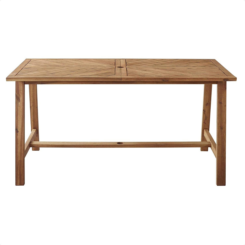 Popular Amazon : Skoog Wooden Dining Table : Garden & Outdoor Regarding Skoog Chevron Wooden Garden Benches (View 14 of 30)