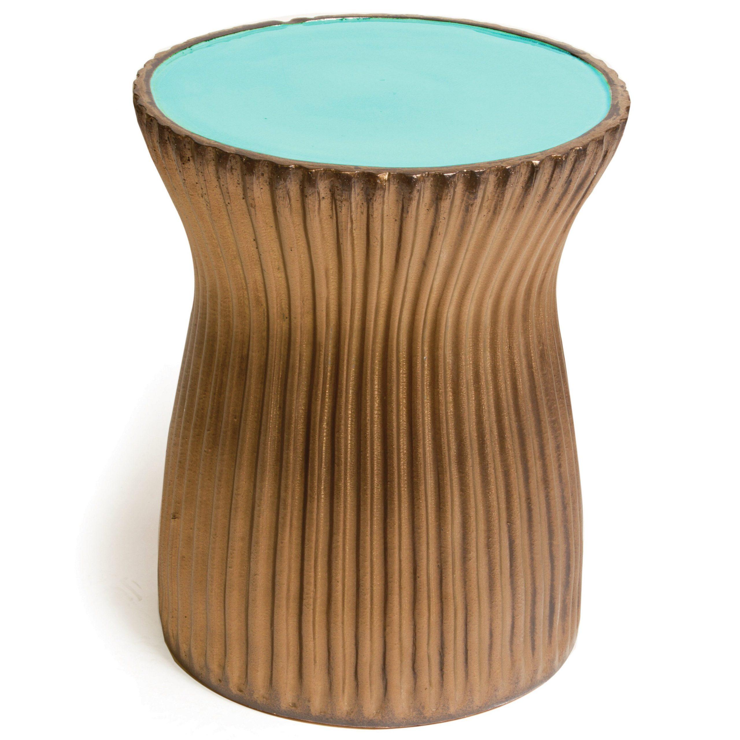 Popular Ridged Ceramic Accent Stool For Arista Ceramic Garden Stools (View 8 of 30)