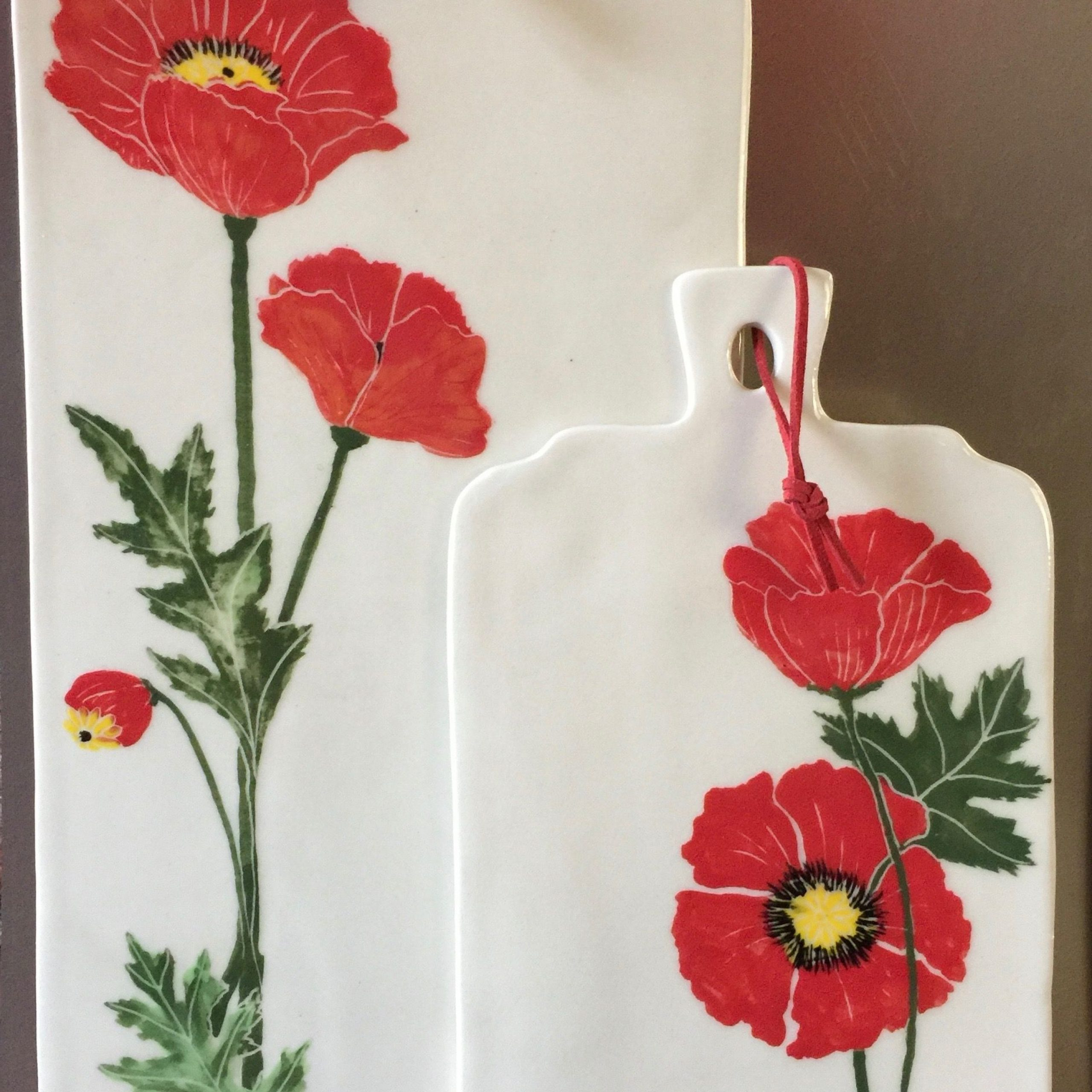Pottery Designs For Wilde Poppies Ceramic Garden Stools (View 30 of 30)