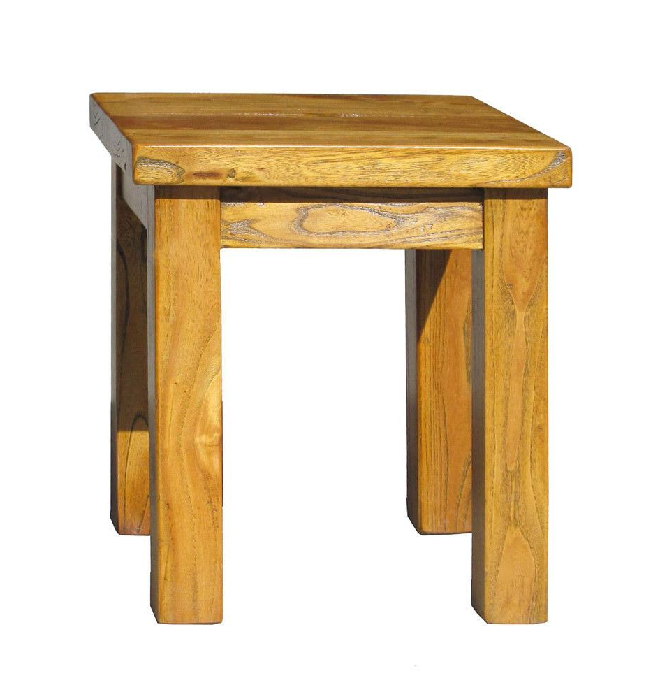 Preferred Chinese Raw Wood Rectangular Simple Stool Ottoman Table With Maci Tropical Birds Garden Stools (View 27 of 30)