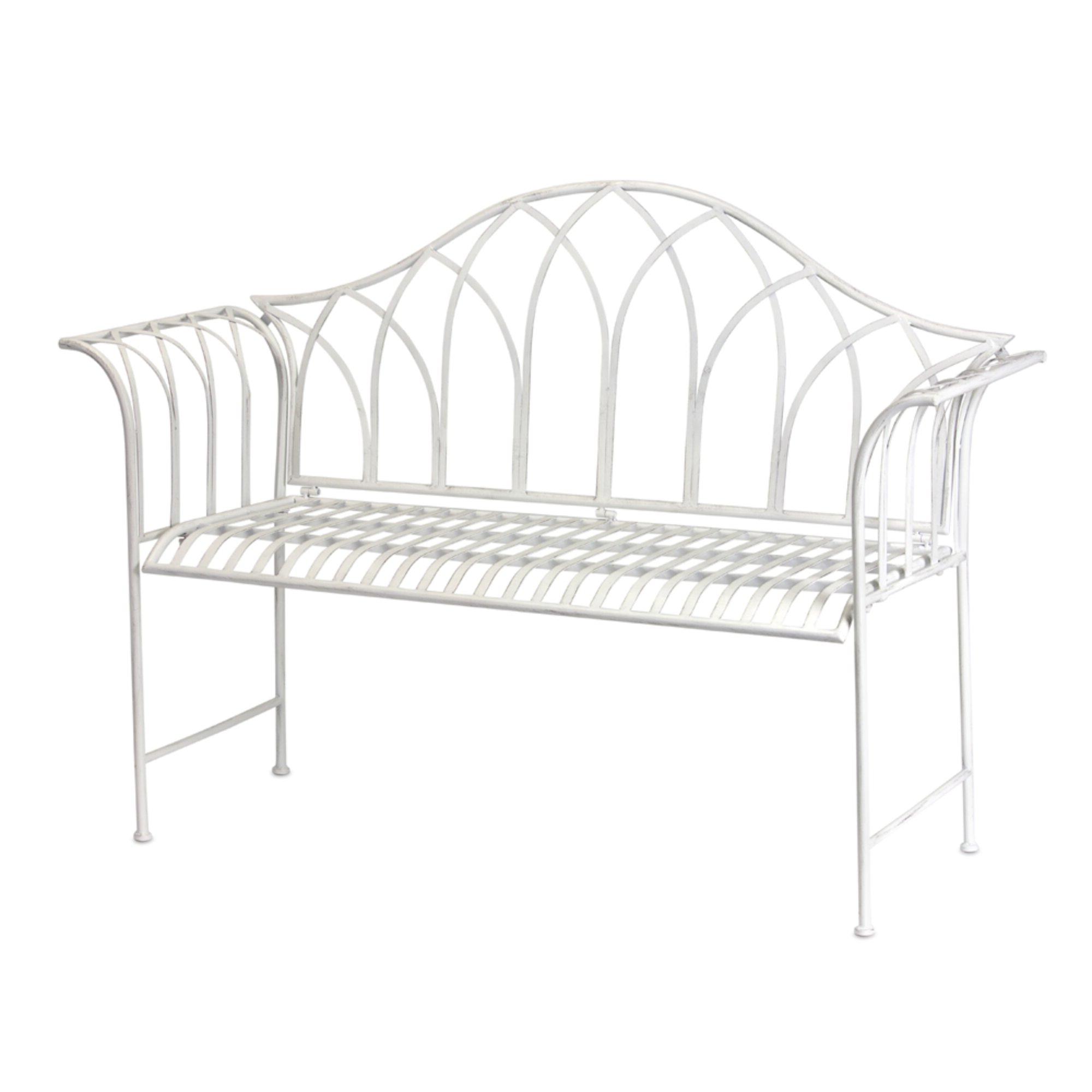 Preferred Haylia Iron Garden Bench With Gehlert Traditional Patio Iron Garden Benches (View 7 of 30)