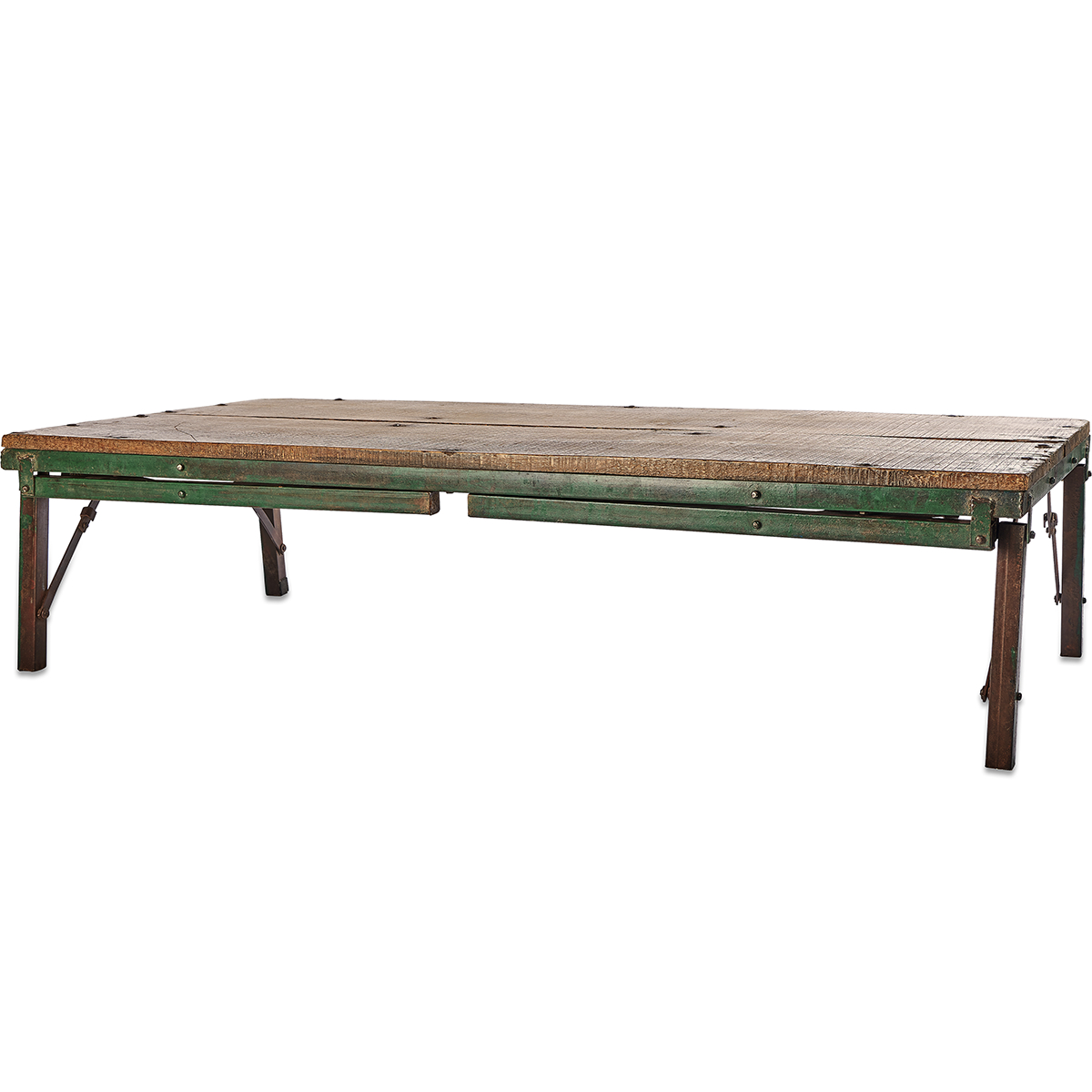 Preferred Ishan Reclaimed Folding Dining/coffee Table Within Ishan Steel Park Benches (View 17 of 30)
