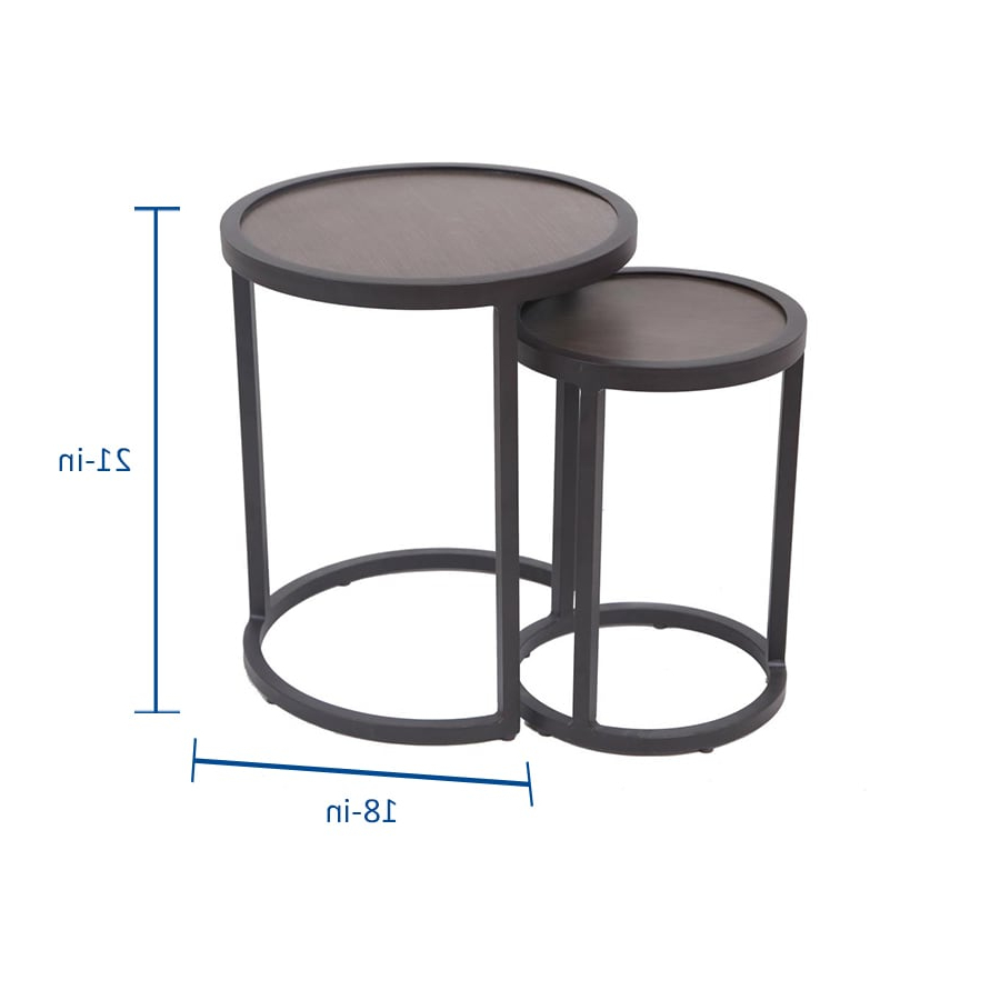 Preferred Pauls Steel Garden Benches With Allen + Roth Round Outdoor End Table 18 In W X 18 In L (View 27 of 30)