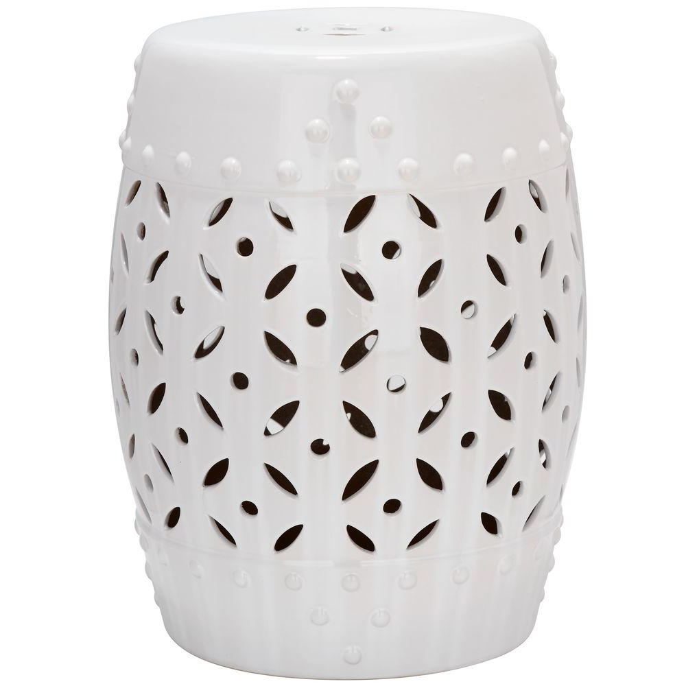 Preferred Safavieh Lattice Coin White Ceramic Garden Stool Acs4510a – The Home Depot For Ceramic Garden Stools (View 14 of 30)