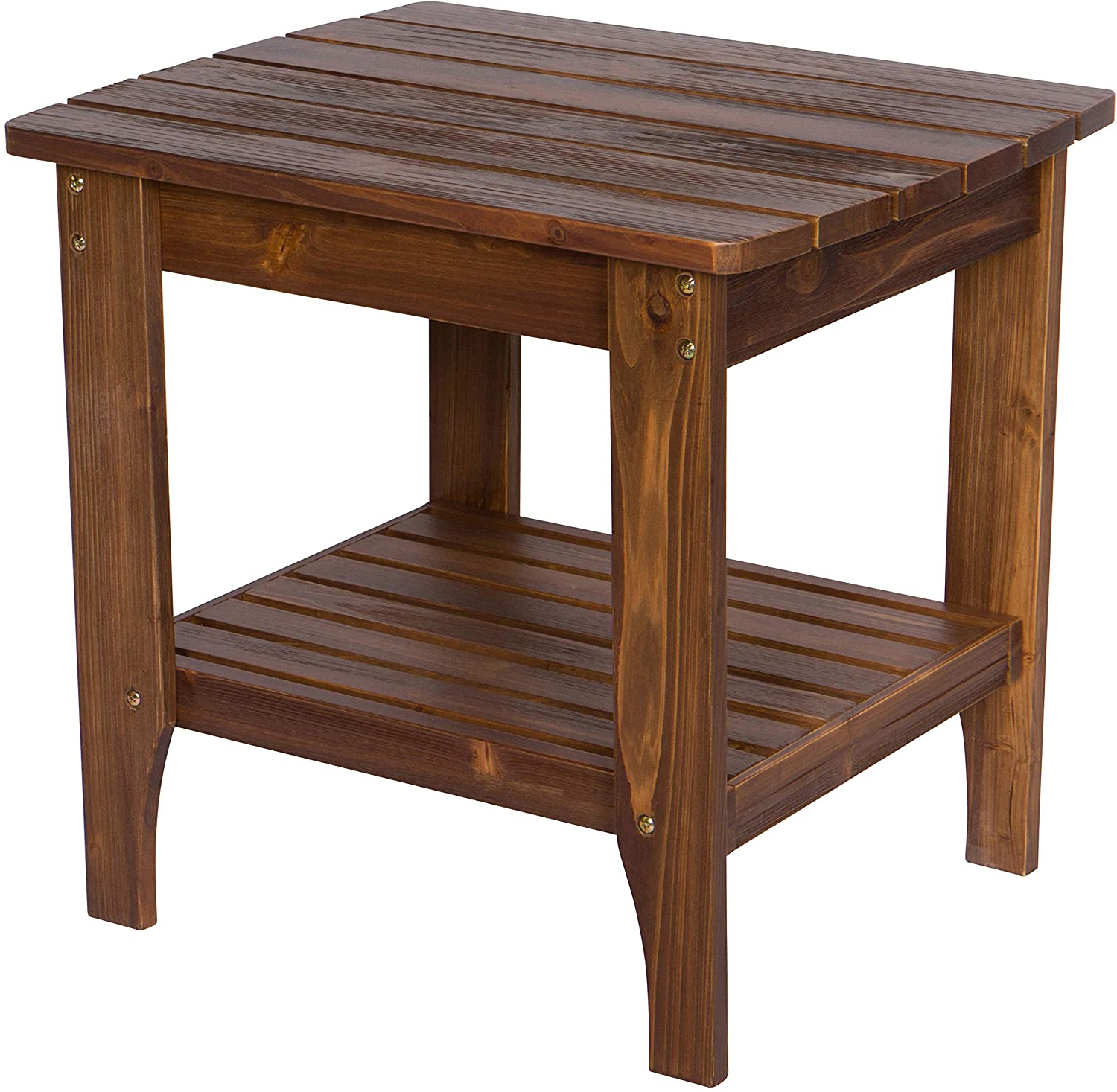 Preferred Shine Company 4113oa Indoor/outdoor Rectangular Hydro Tex Finish, Oak Side Table For Oakside Ceramic Garden Stools (View 30 of 30)