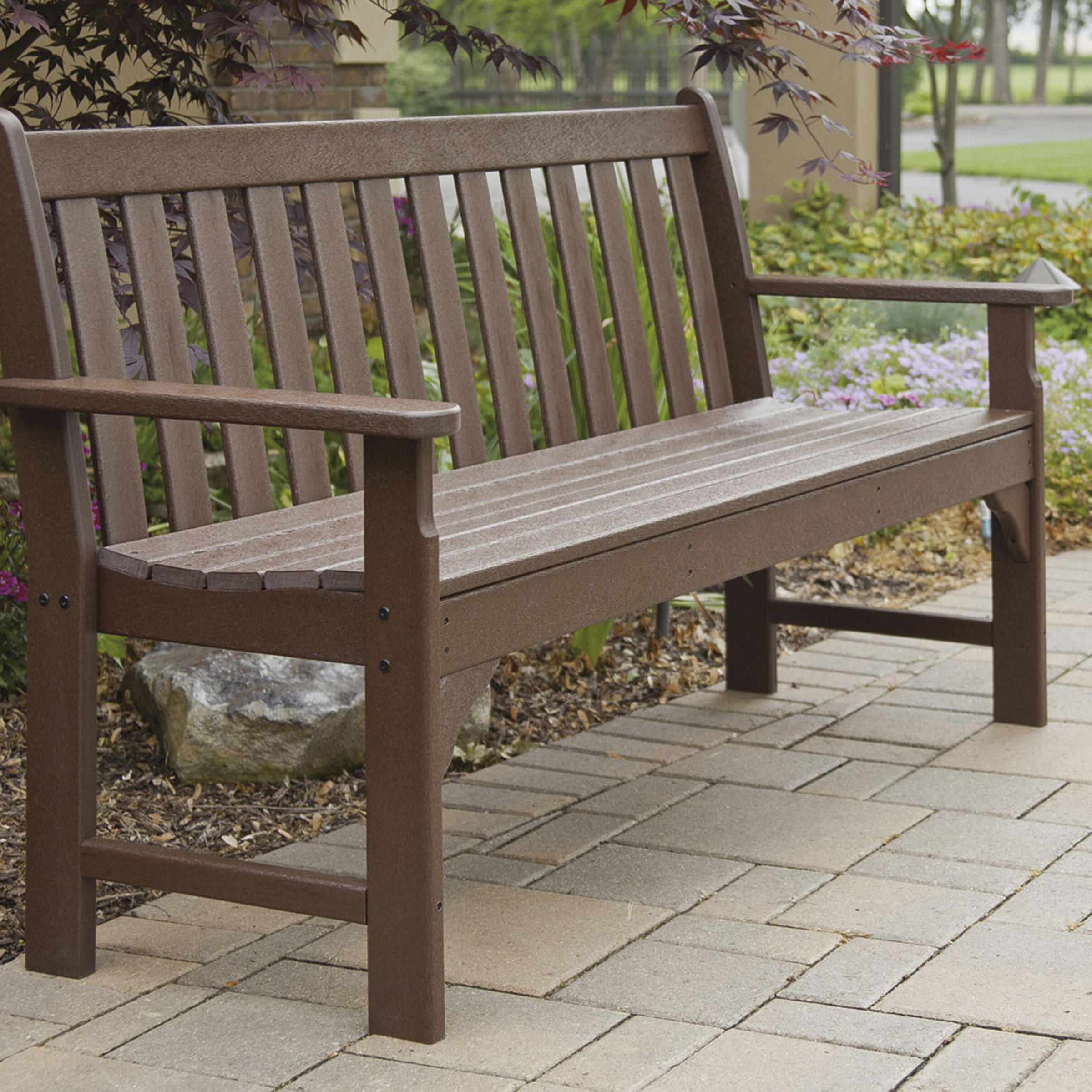 Preferred Vineyard Plastic Garden Bench Pertaining To Alfon Wood Garden Benches (View 13 of 30)