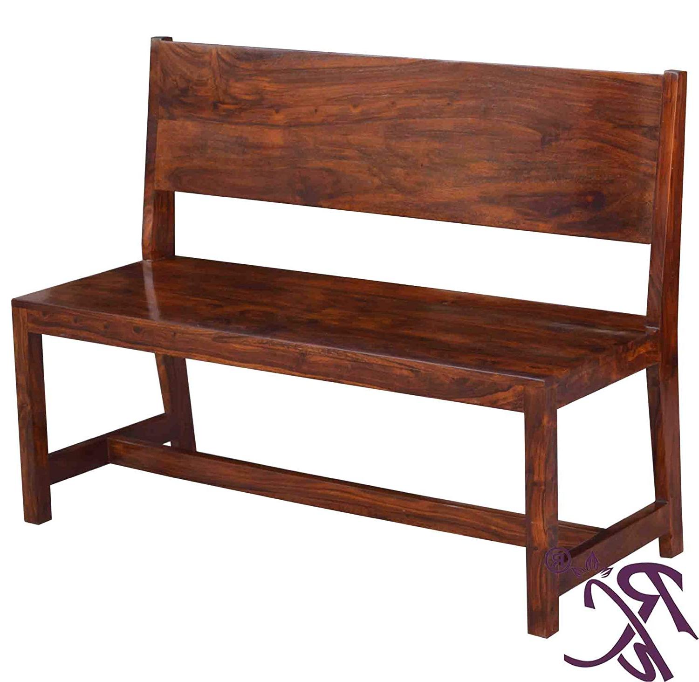 Raj Handicraft Solid Wooden Bench (2 Pcs (View 4 of 30)