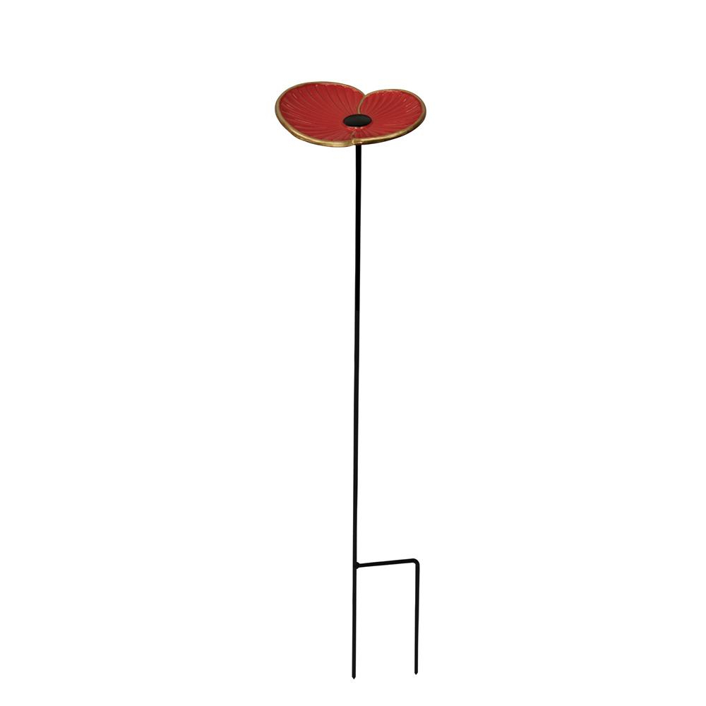 Rbl – Cast Iron Poppy Feeder – Wild Bird Feeders – Polhill With Well Liked Wilde Poppies Ceramic Garden Stools (View 23 of 30)