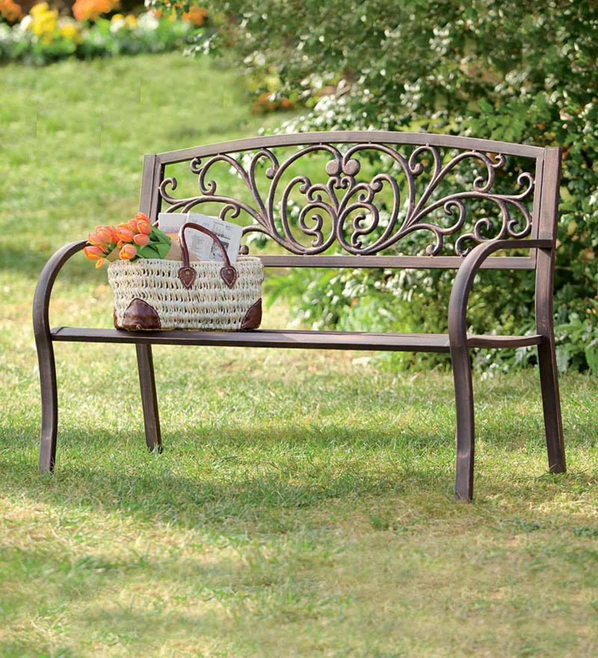 Featured Photo of Blooming Iron Garden Benches