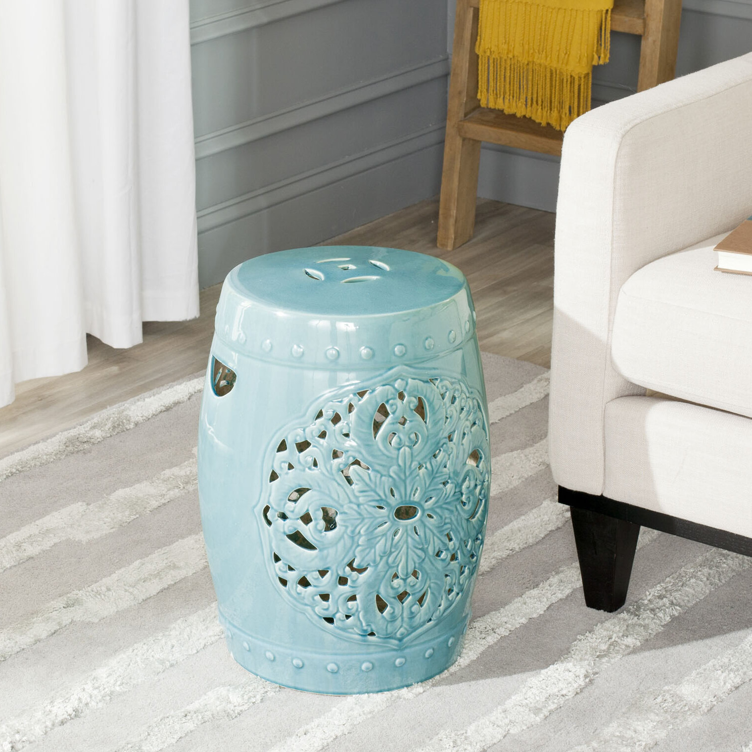 Recent Holbrook Ceramic Garden Stools Inside Nagle Ceramic Garden Stool (View 8 of 30)