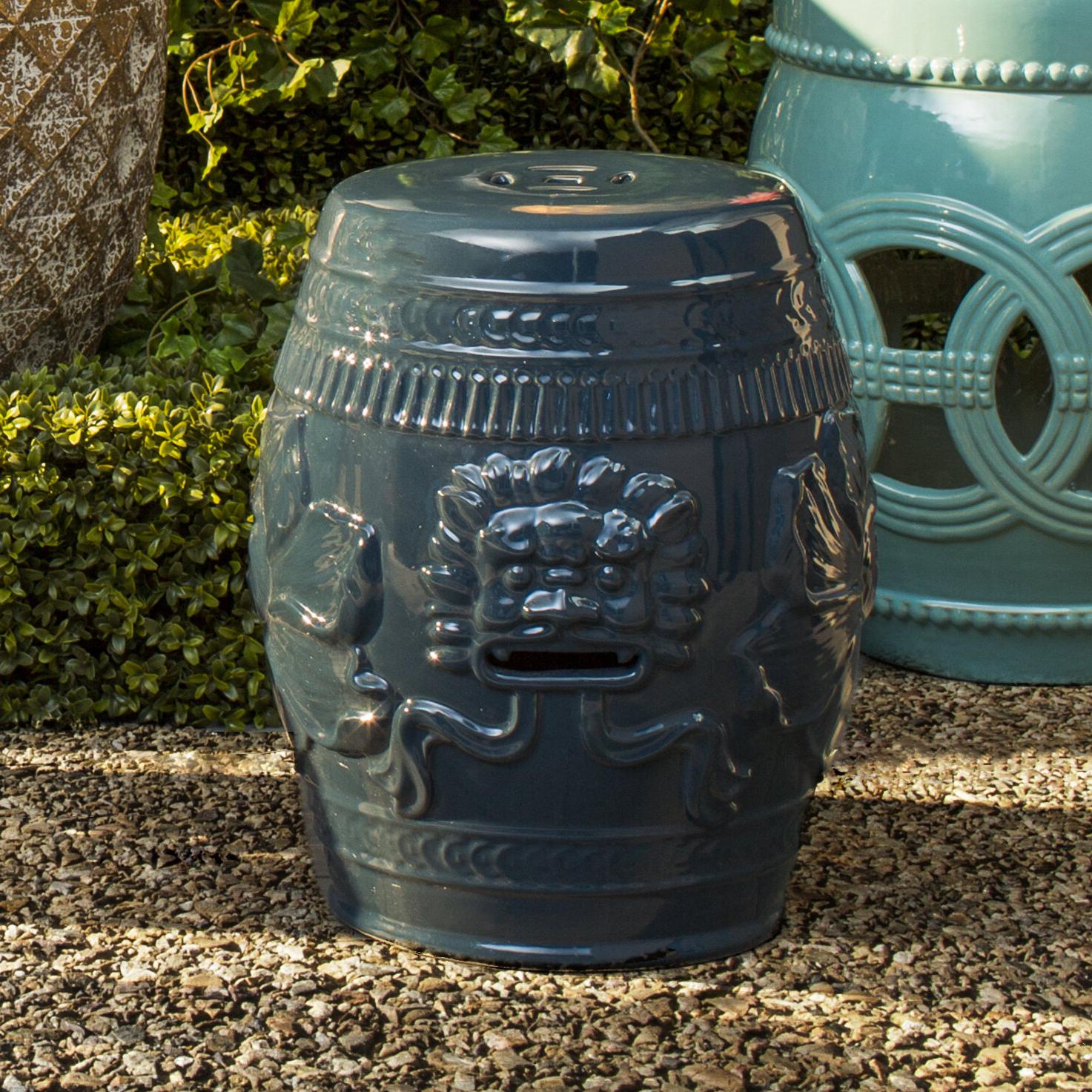 Recent Nosal Ceramic Garden Stool For Feliciana Ceramic Garden Stools (View 21 of 30)