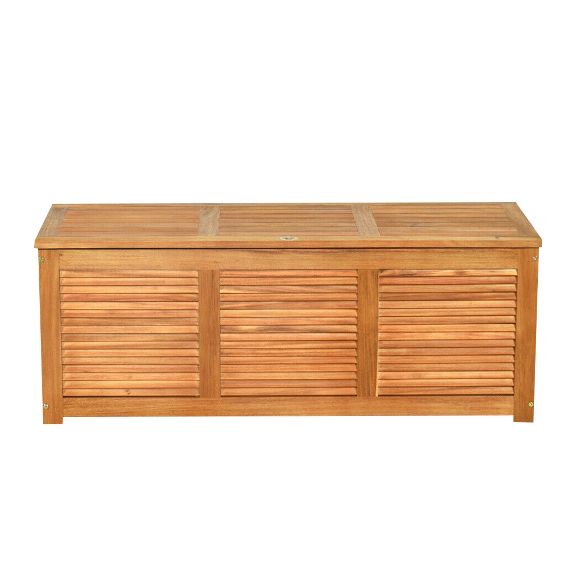 Recent Skoog Chevron Wooden Storage Benches Throughout Moloney Wooden Storage Bench (View 16 of 30)
