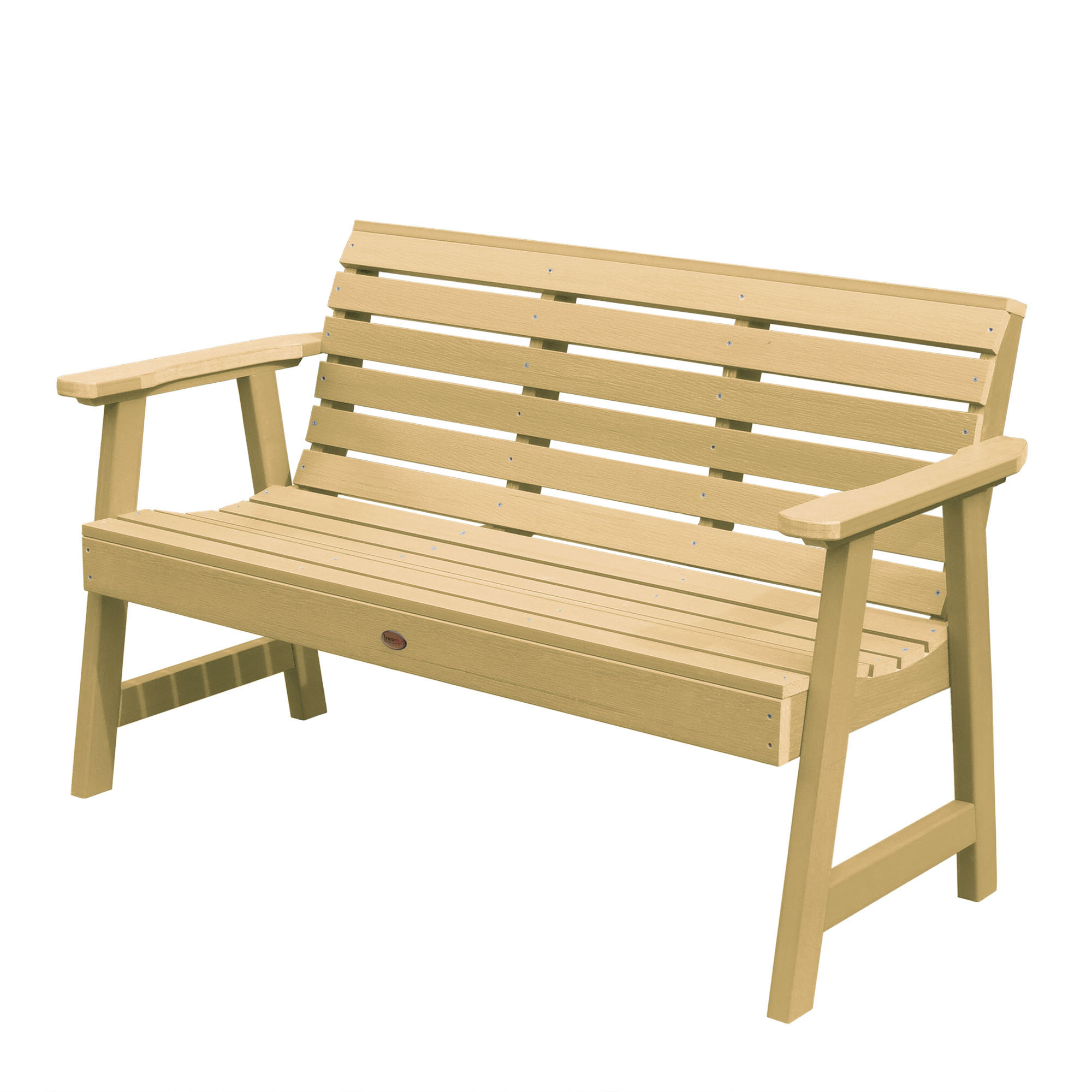 Recent Trigg Synthetic Plastic Garden Bench For Gehlert Traditional Patio Iron Garden Benches (View 22 of 30)