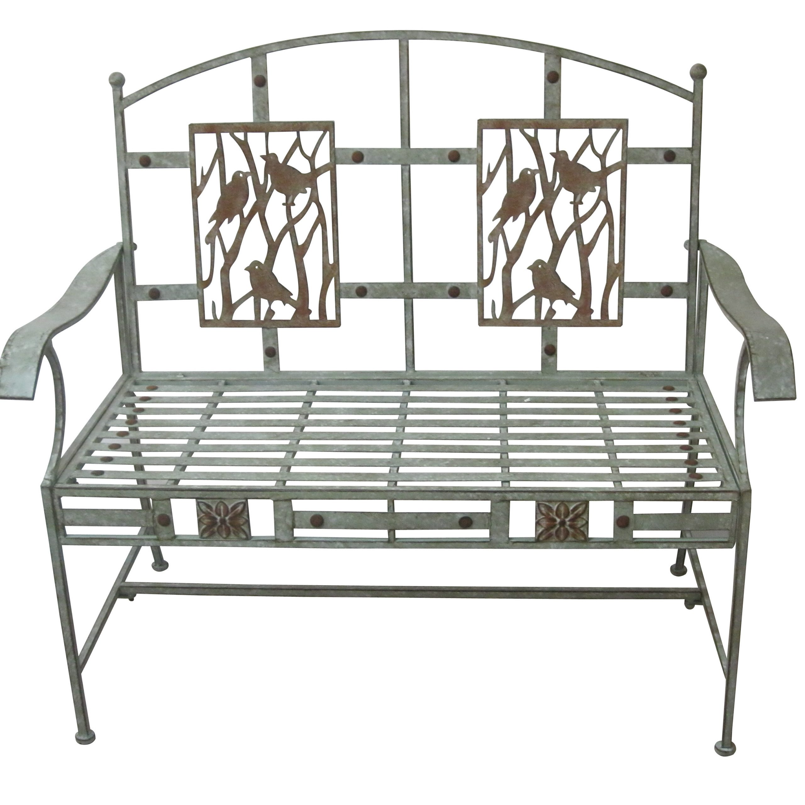 Rideout Metal Garden Bench Throughout Famous Gehlert Traditional Patio Iron Garden Benches (View 8 of 30)
