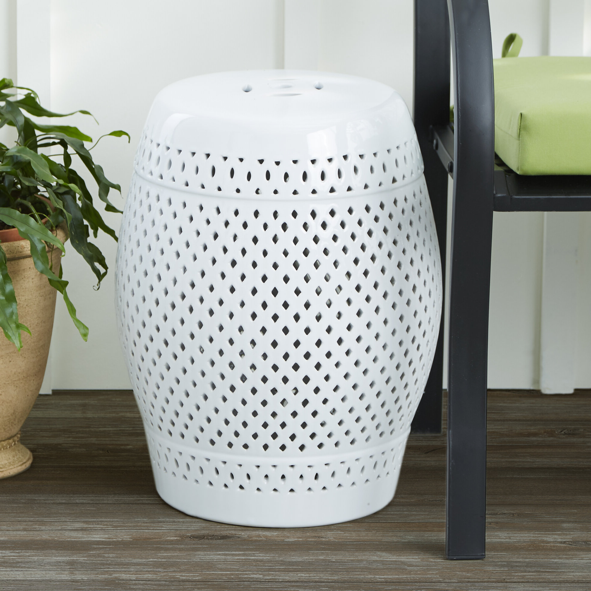 Rivera Ceramic Garden Stool Throughout Most Recently Released Winterview Garden Stools (View 9 of 30)