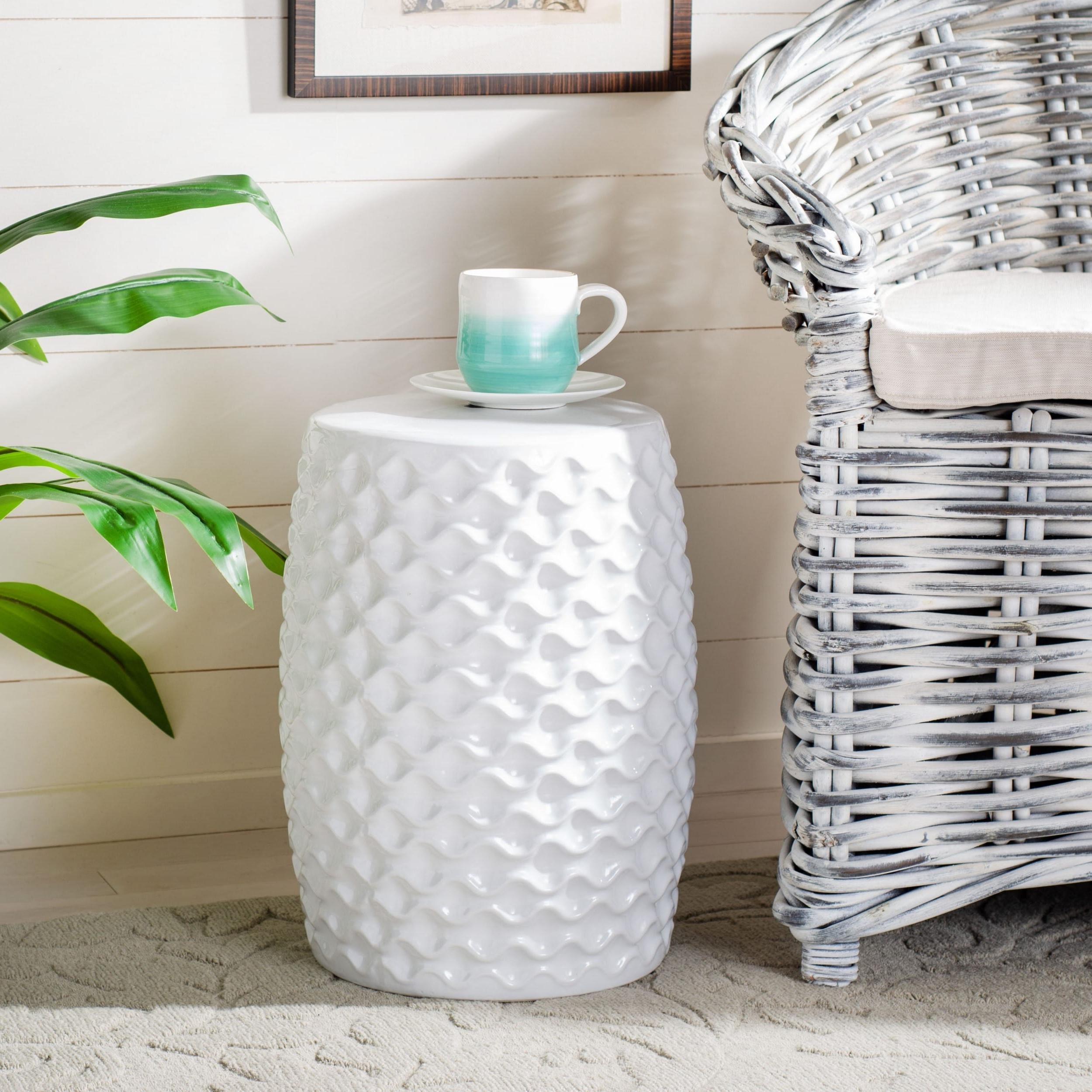 Safavieh Randon Indoor / Outdoor Ceramic Decorative Garden Stool With Latest Ceramic Garden Stools (View 16 of 30)