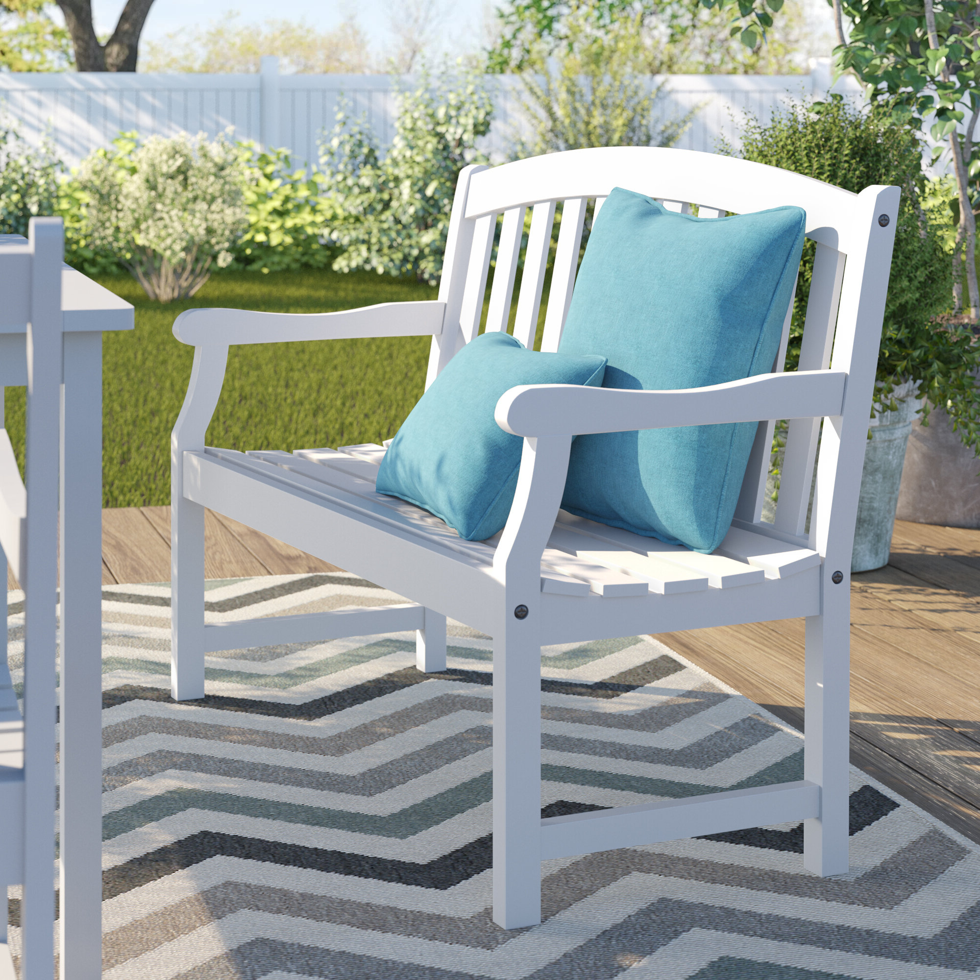 Shelbie Wooden Garden Bench With Widely Used Ahana Wooden Garden Benches (View 11 of 30)