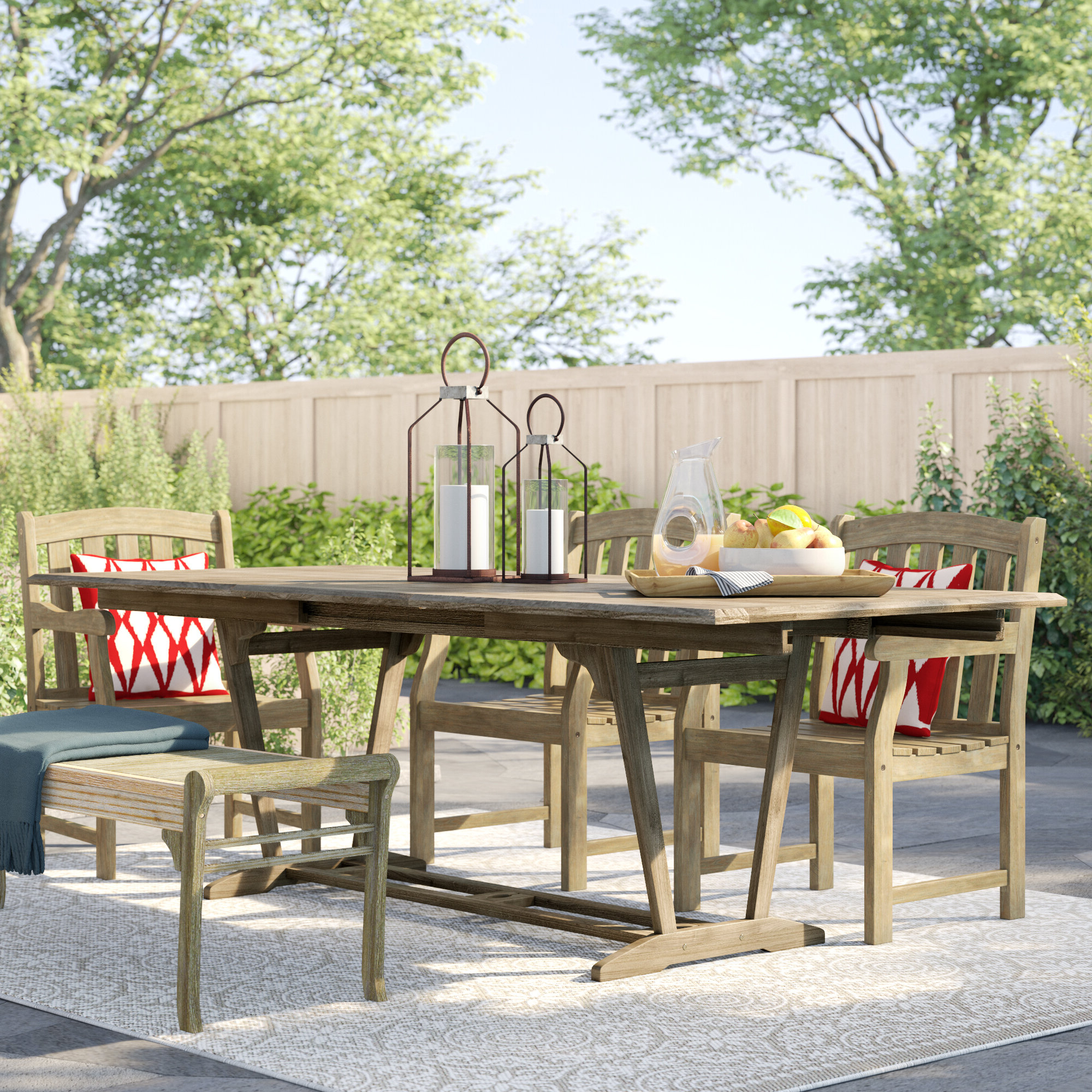 Shelbie Wooden Garden Benches With Fashionable Shelbie Extendable Wooden Dining Table (View 15 of 30)