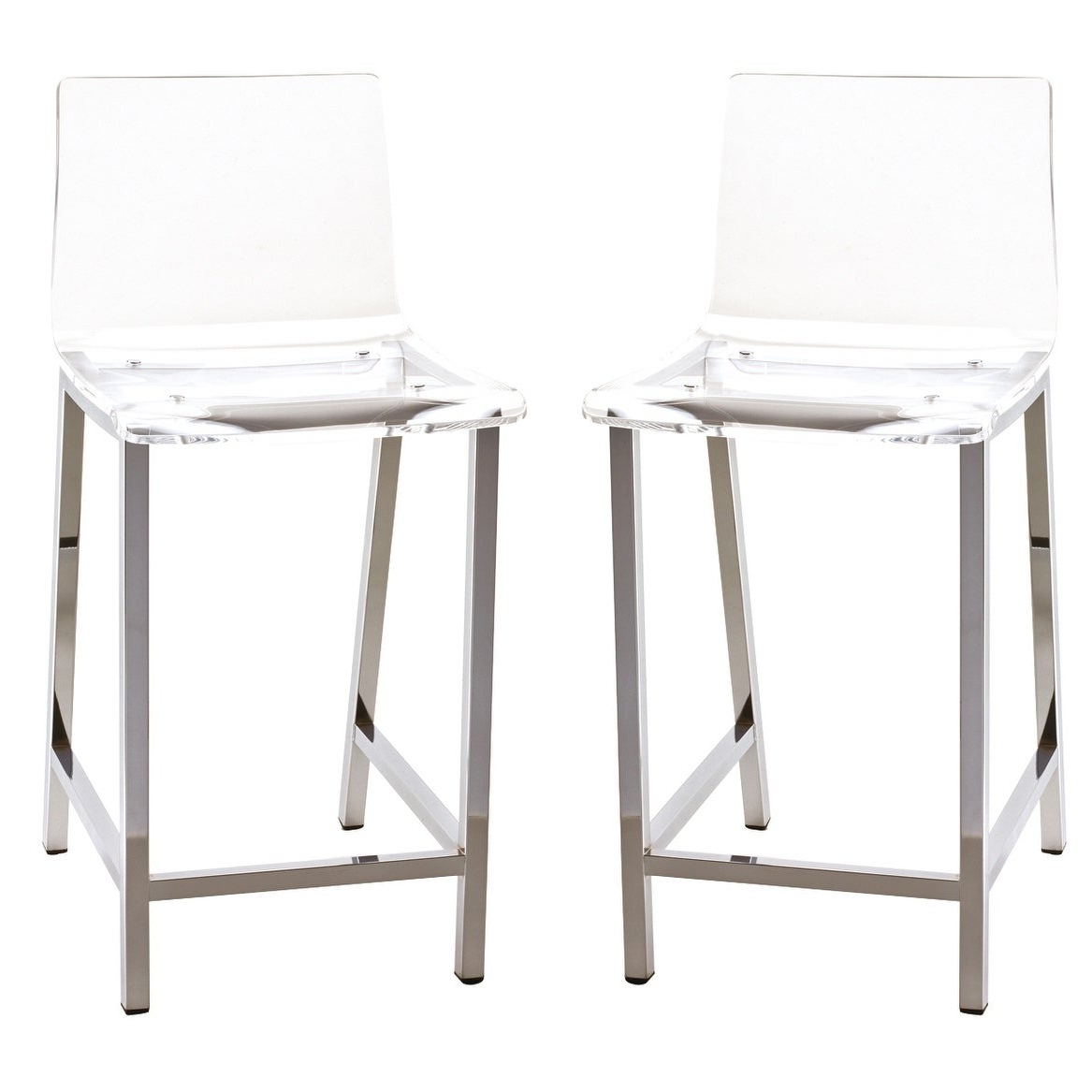 Silver Orchid Lederer Acylic Modern Stool (set Of 2) Throughout Well Known Svendsen Ceramic Garden Stools (View 29 of 30)