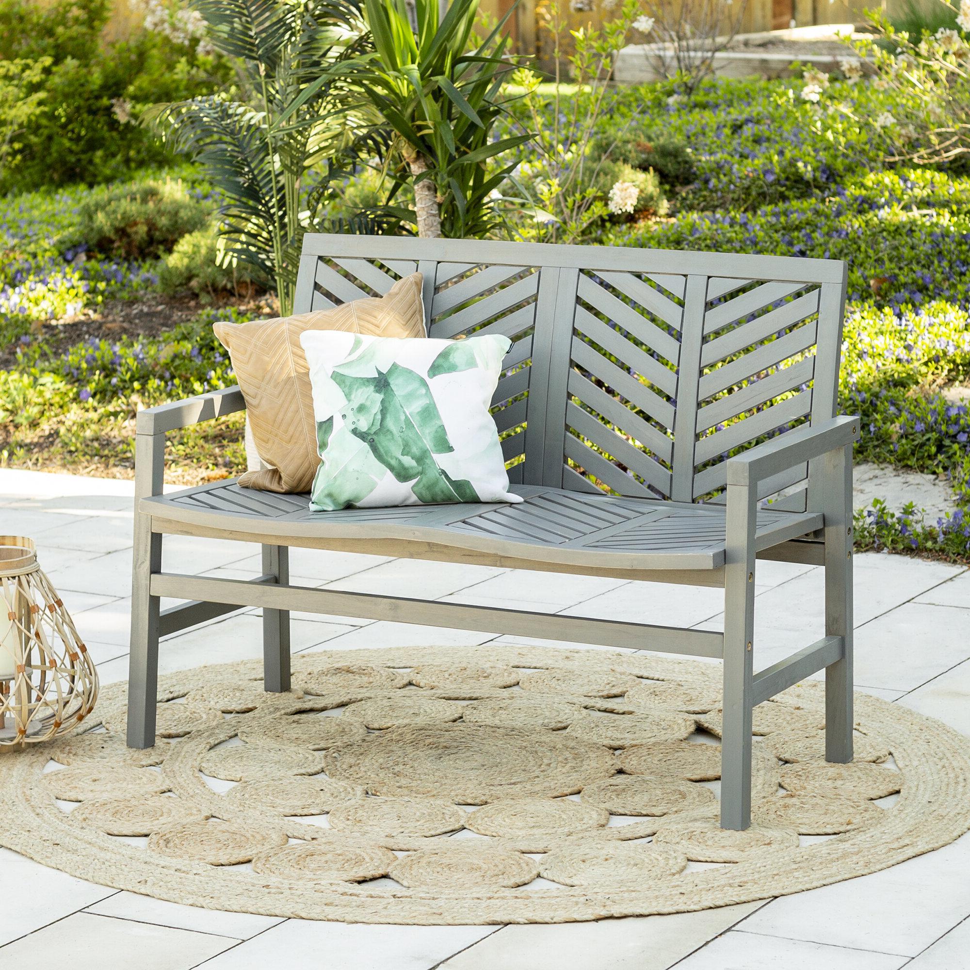 Skoog Chevron Wooden Garden Bench With Regard To 2019 Skoog Chevron Wooden Garden Benches (View 3 of 30)