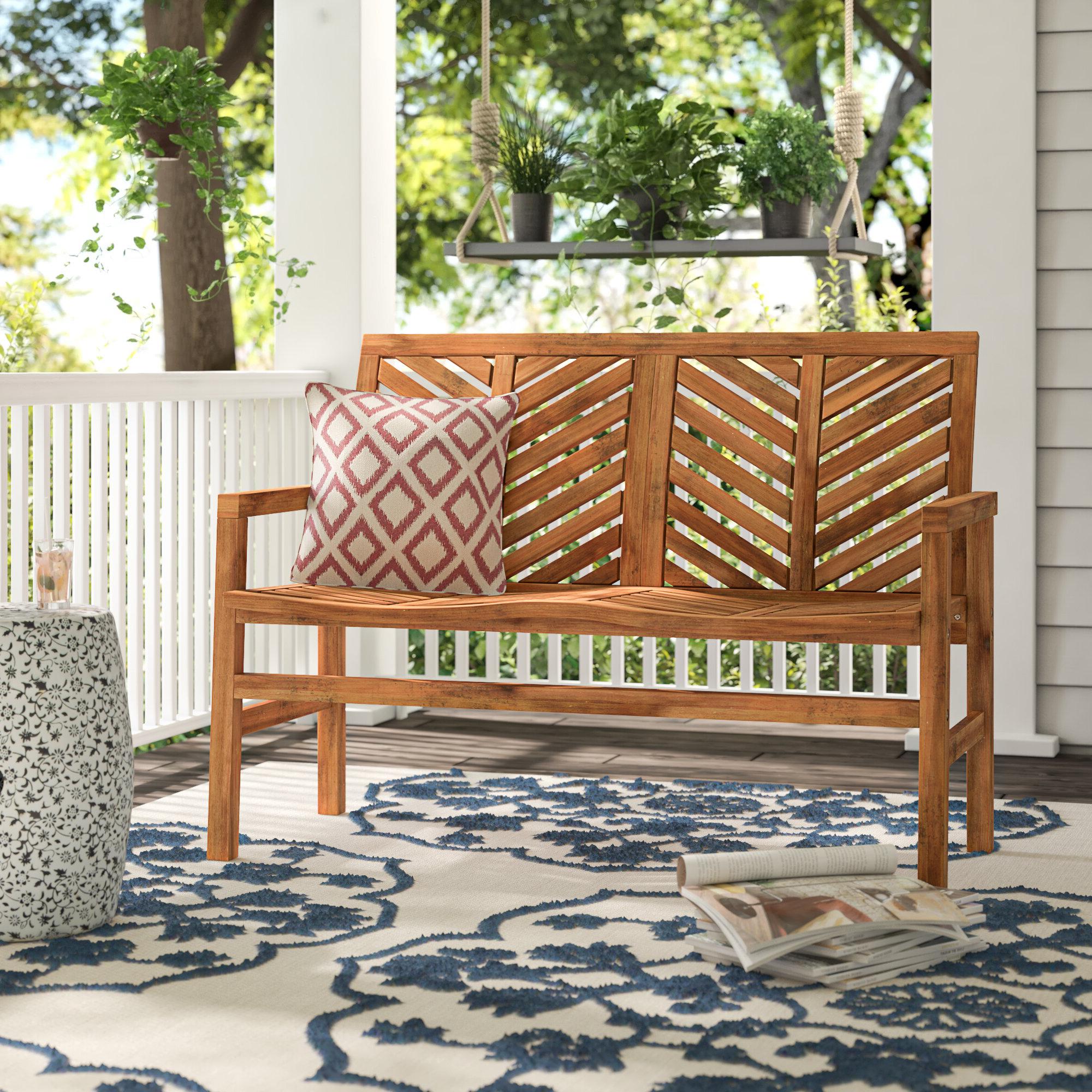 Featured Photo of Skoog Chevron Wooden Garden Benches