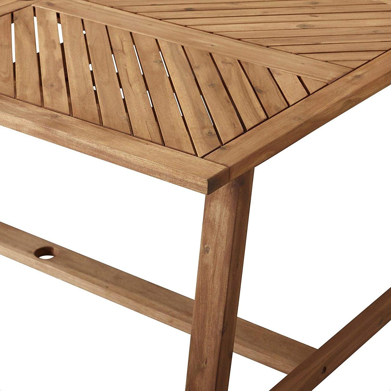 Skoog Chevron Wooden Garden Benches Intended For Most Popular Amazon : Skoog Wooden Dining Table : Garden & Outdoor (View 23 of 30)