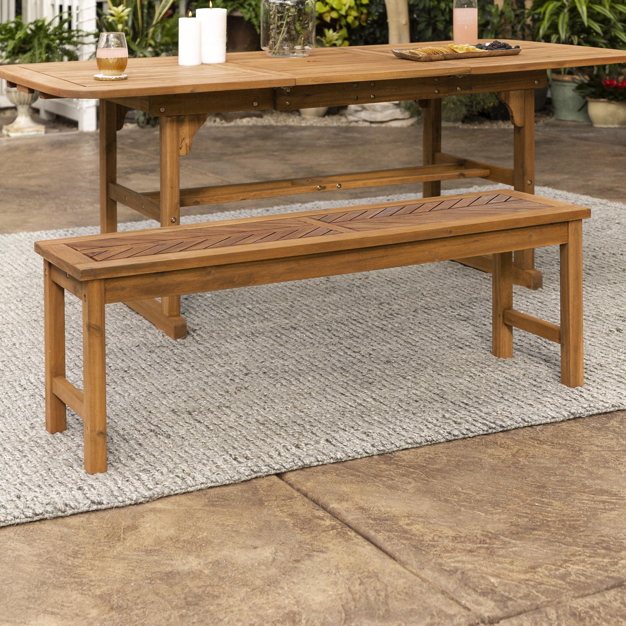 Skoog Chevron Wooden Garden Benches Throughout Favorite Skoog Wooden Picnic Bench (View 6 of 30)