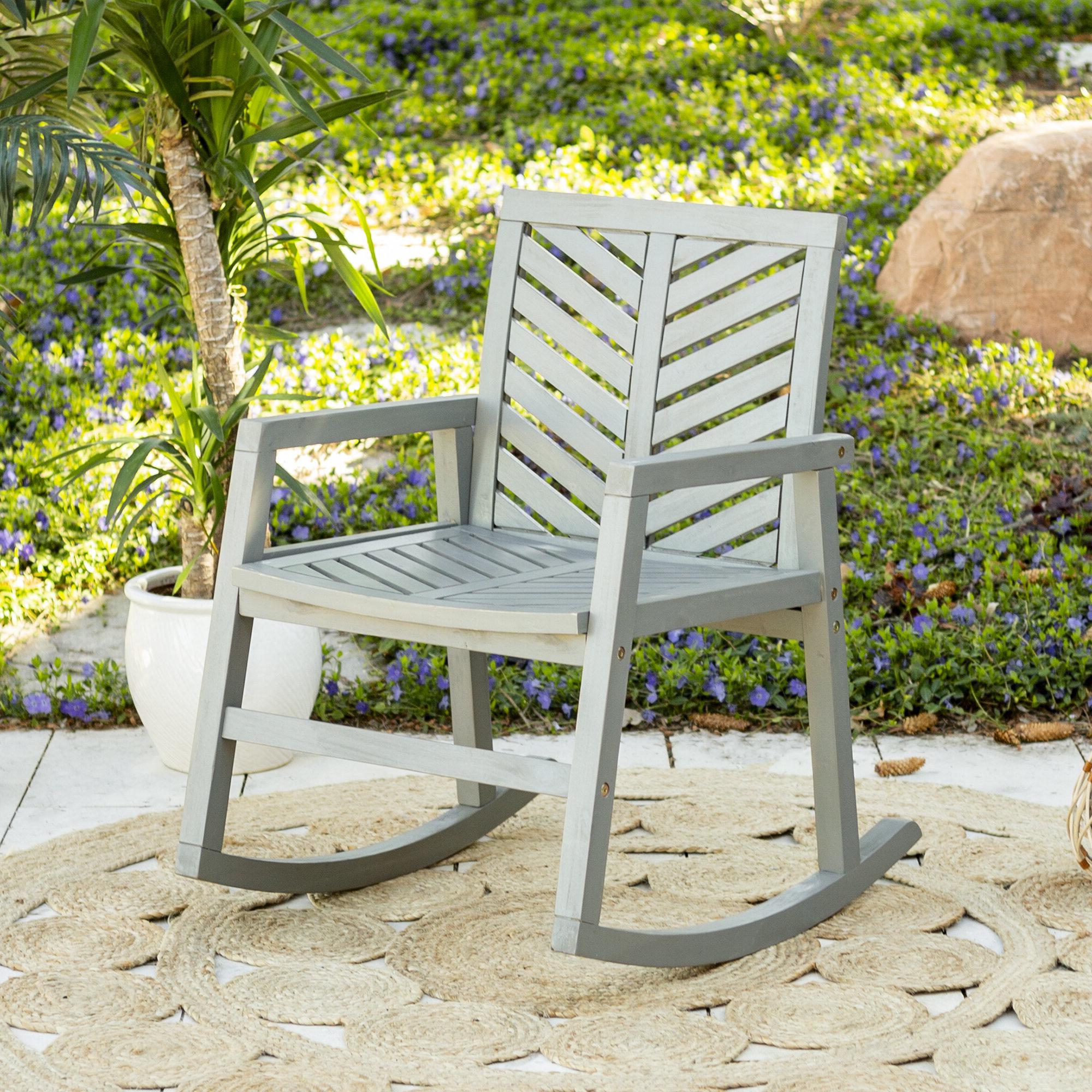Skoog Chevron Wooden Garden Benches With Most Popular Skoog Outdoor Chevron Rocking Chair (View 15 of 30)