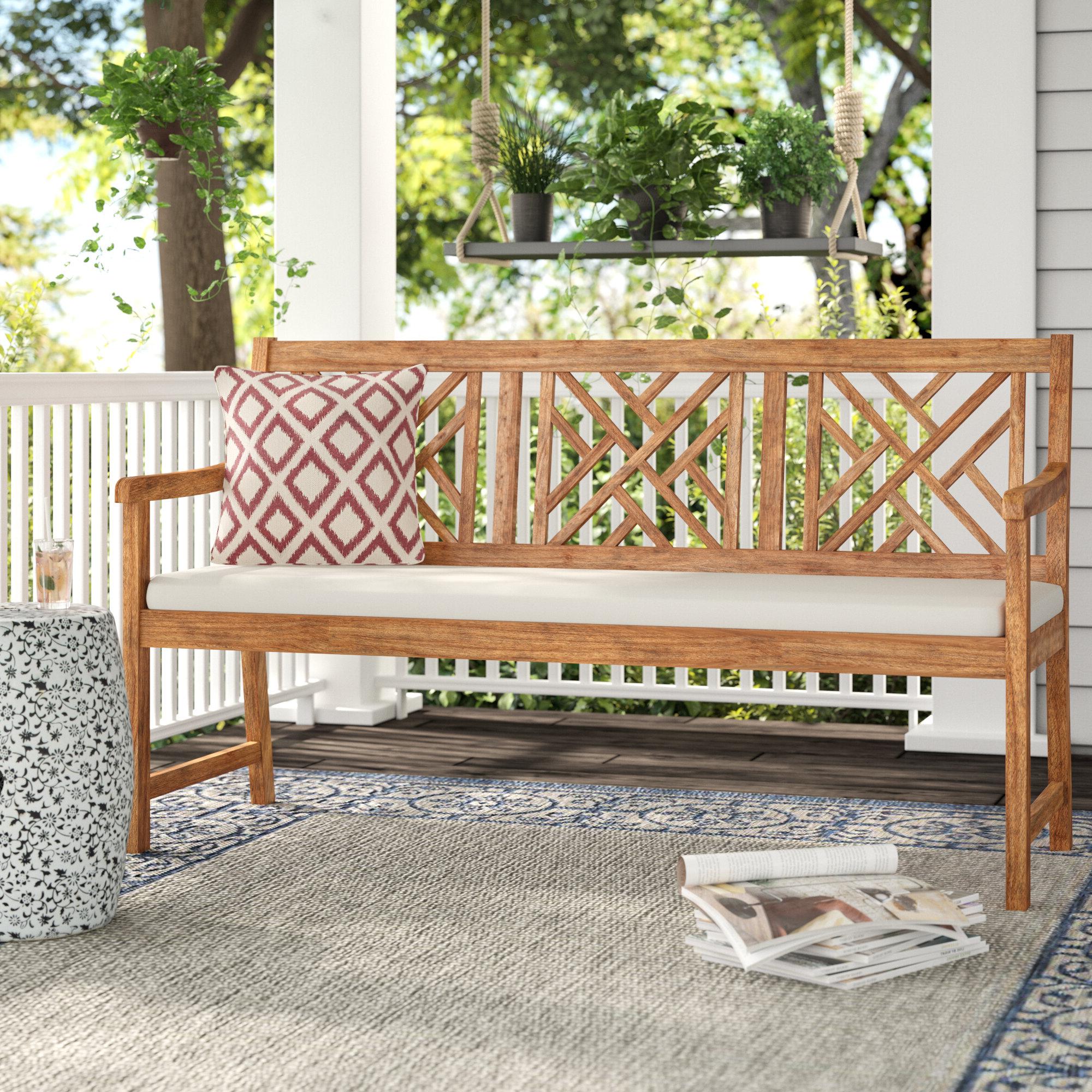 Stanwich Acacia Garden Bench Inside Trendy Elsner Acacia Garden Benches (View 4 of 30)